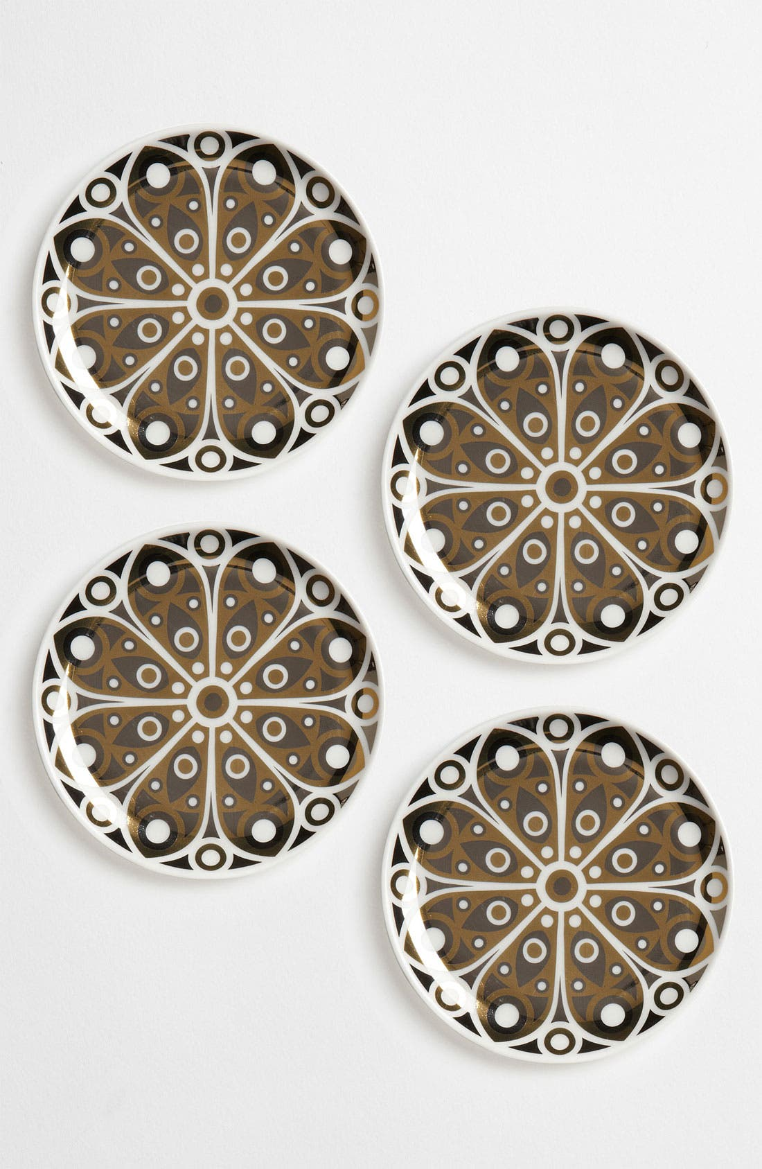 Main Image - Jonathan Adler 'Peacock' Porcelain Coasters (Set of 4)