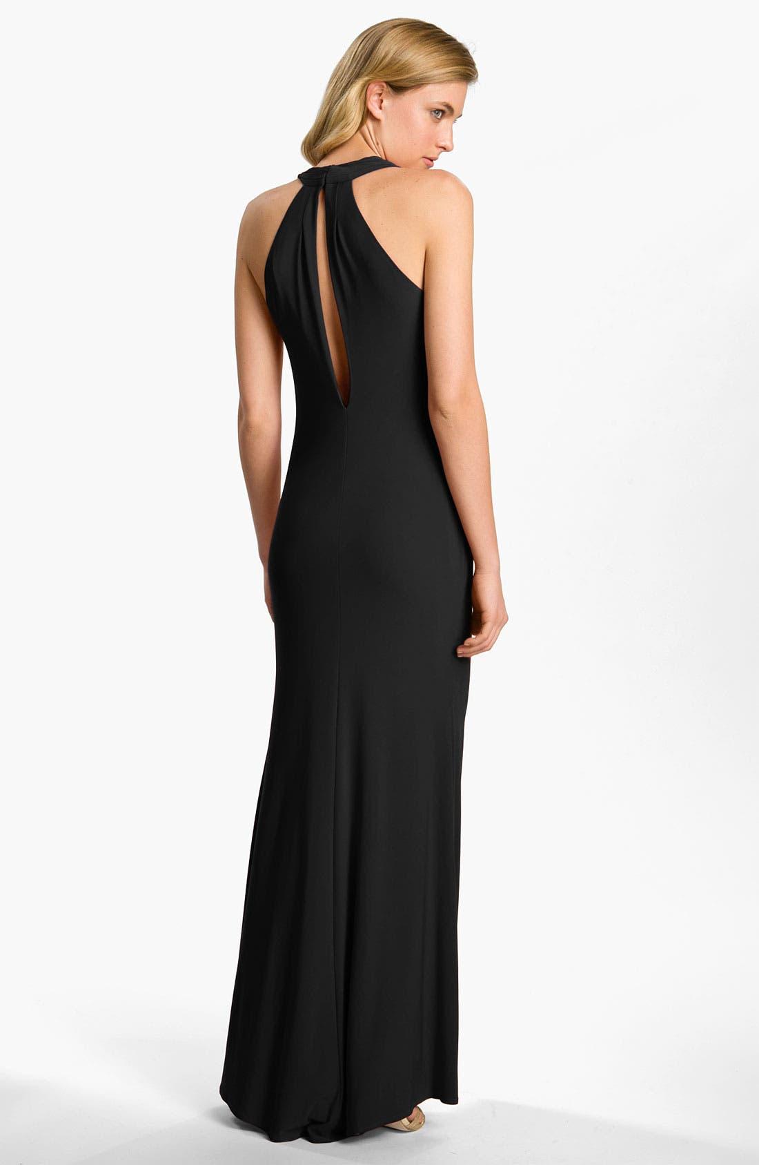 Alternate Image 2  - A.B.S. by Allen Schwartz Cowl Neck Jersey Gown