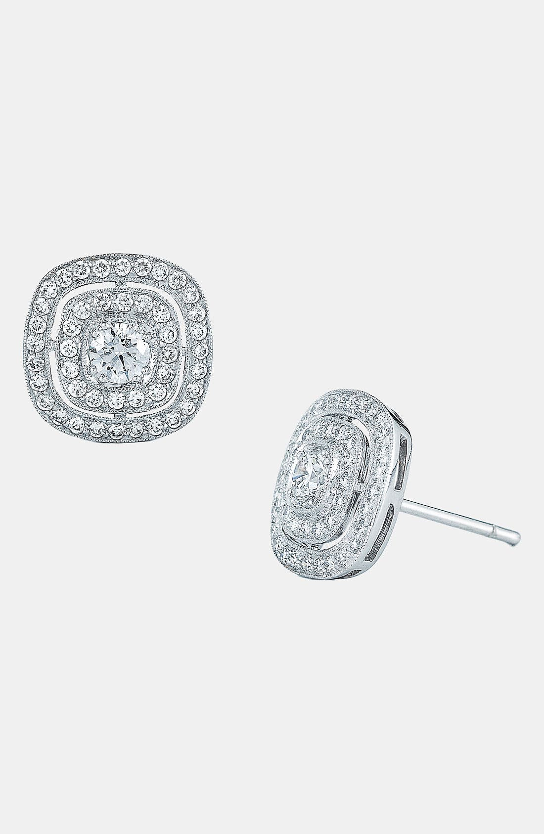 Alternate Image 1 Selected - Kwiat 'Silhouette' Diamond Stud Earrings