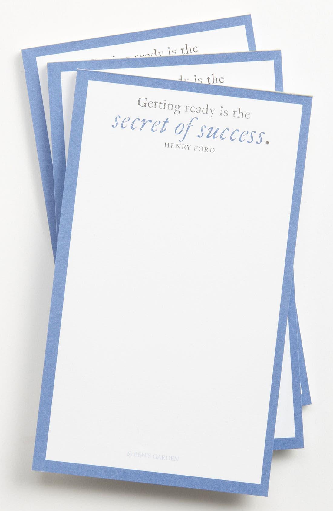 Main Image - Ben's Garden 'The Secret of Success' Notepads (3-Pack)