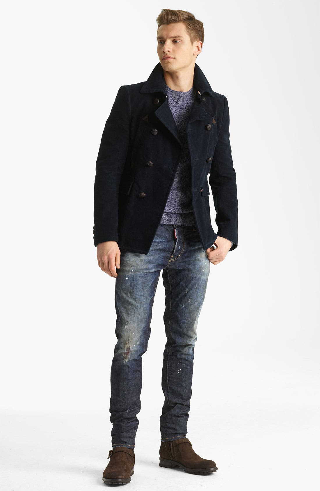 Alternate Image 4  - Dsquared2 'Dean' Double Breasted Peacoat