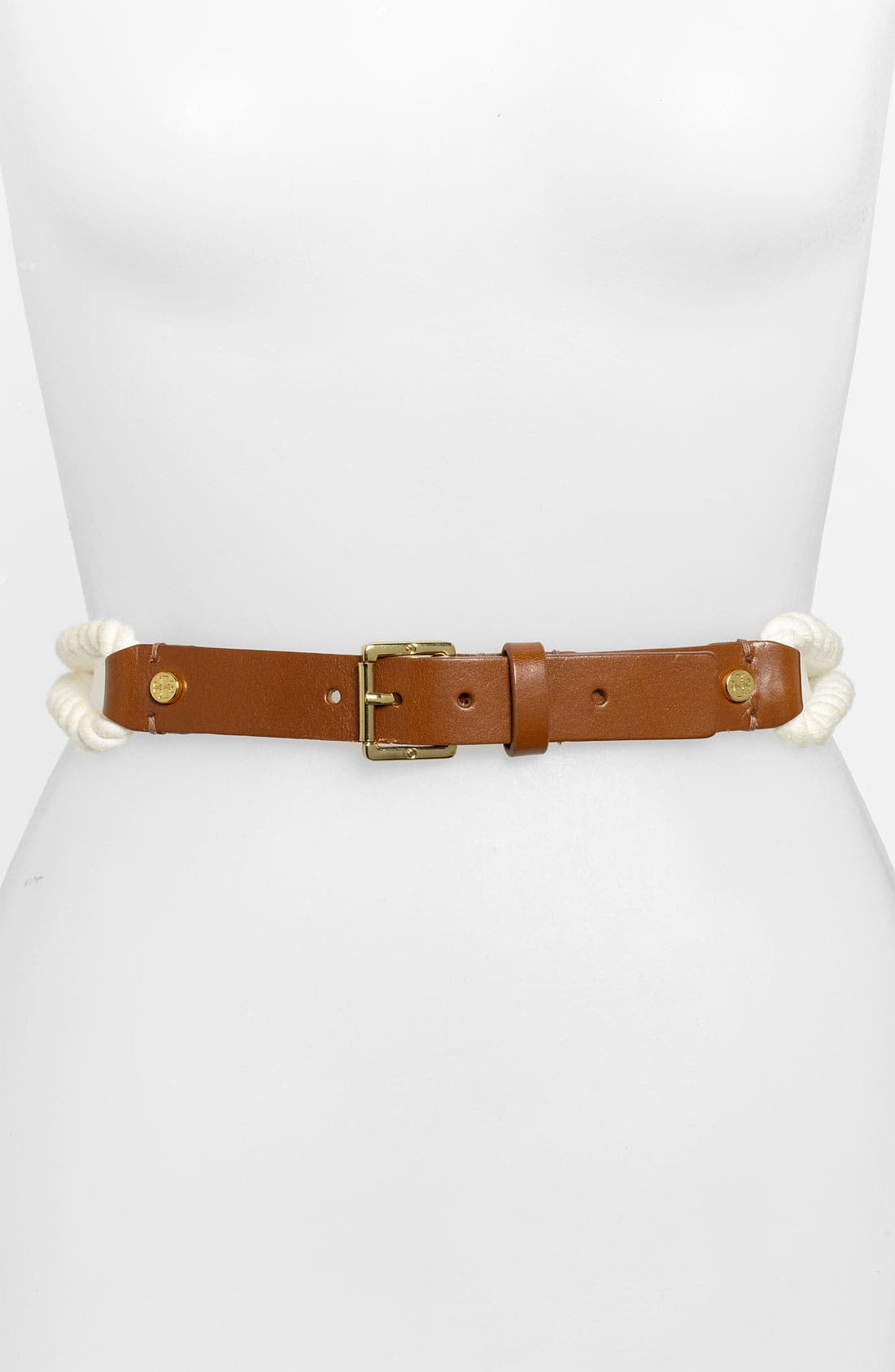 Alternate Image 1 Selected - Tory Burch Leather & Rope Belt