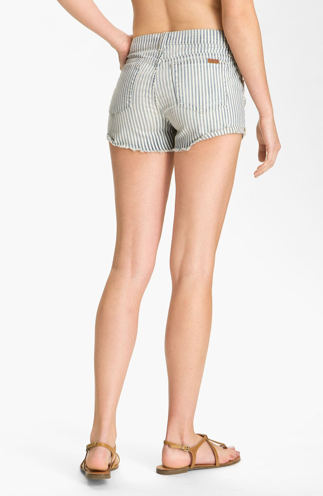 Alternate Image 1 Selected - Joe's Cutoff Denim Shorts (Connie Stripe)