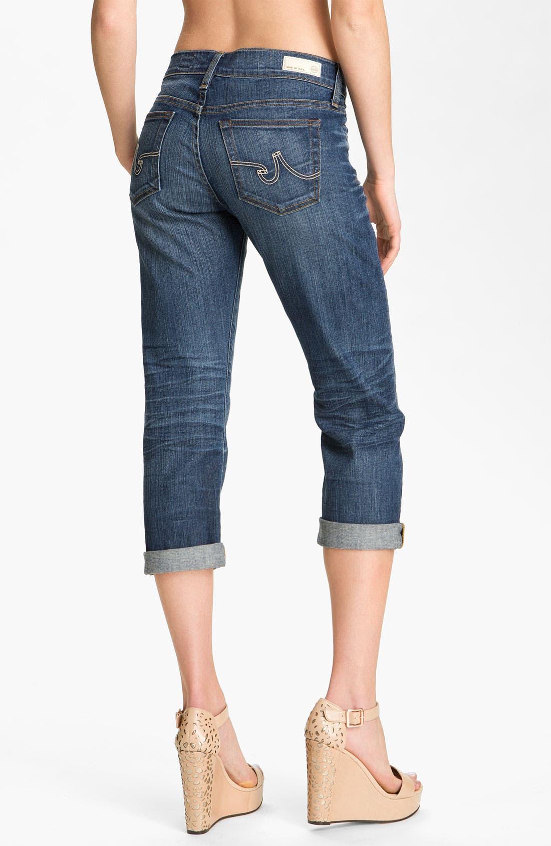 Alternate Image 2  - AG Jeans 'Tomboy' Crop Stretch Jeans (10 Year Vintage)