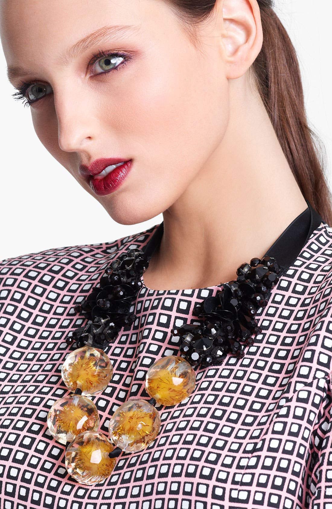 Alternate Image 1 Selected - Marni Beaded Ribbon Necklace