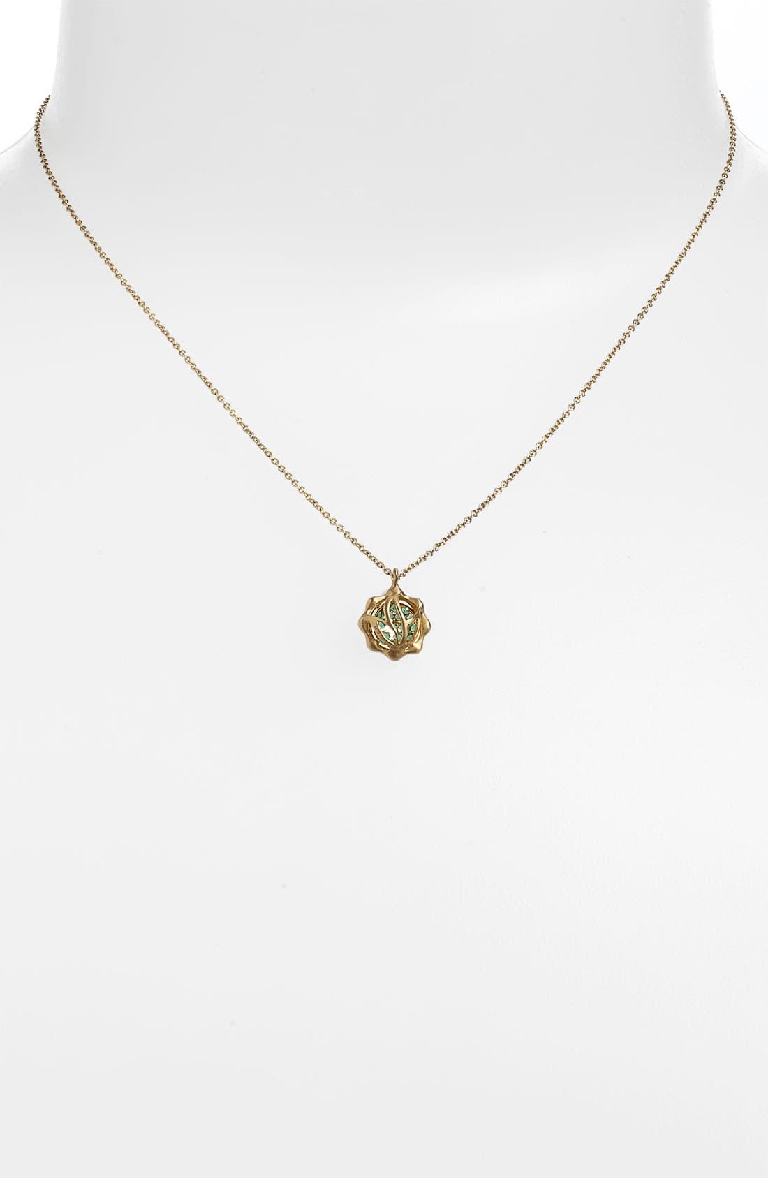 Alternate Image 2  - Carelle 'May' Birthstone Pendant Necklace