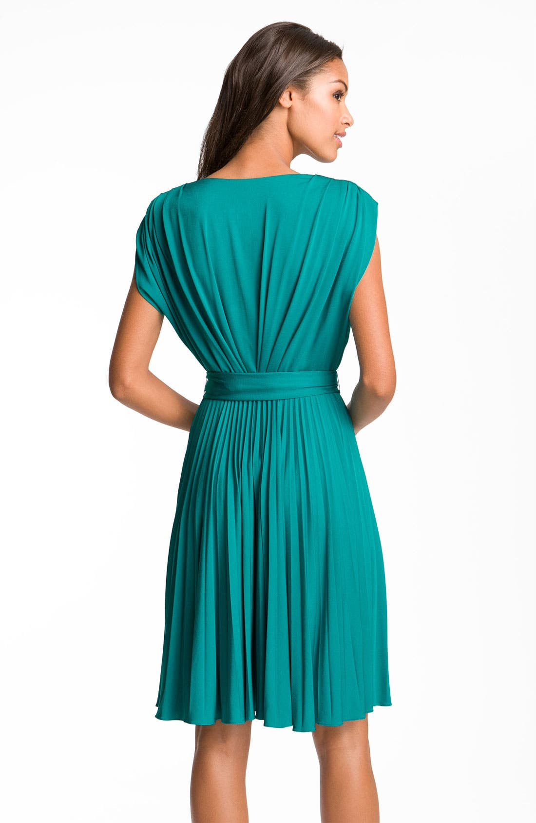 Alternate Image 2  - Suzi Chin for Maggy Boutique Pleated V-Neck Jersey Dress