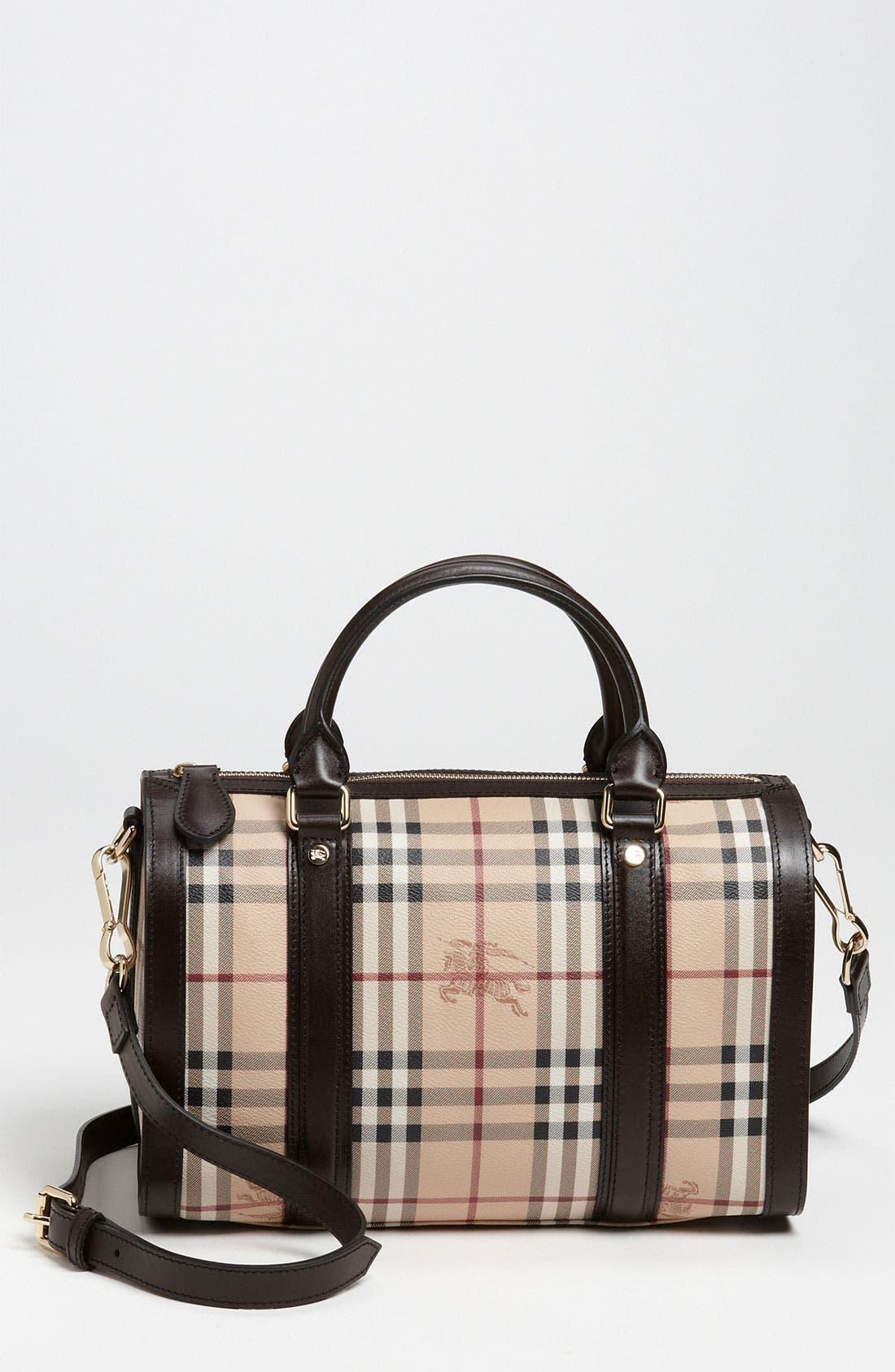 Main Image - Burberry 'Haymarket Check' Satchel, Medium