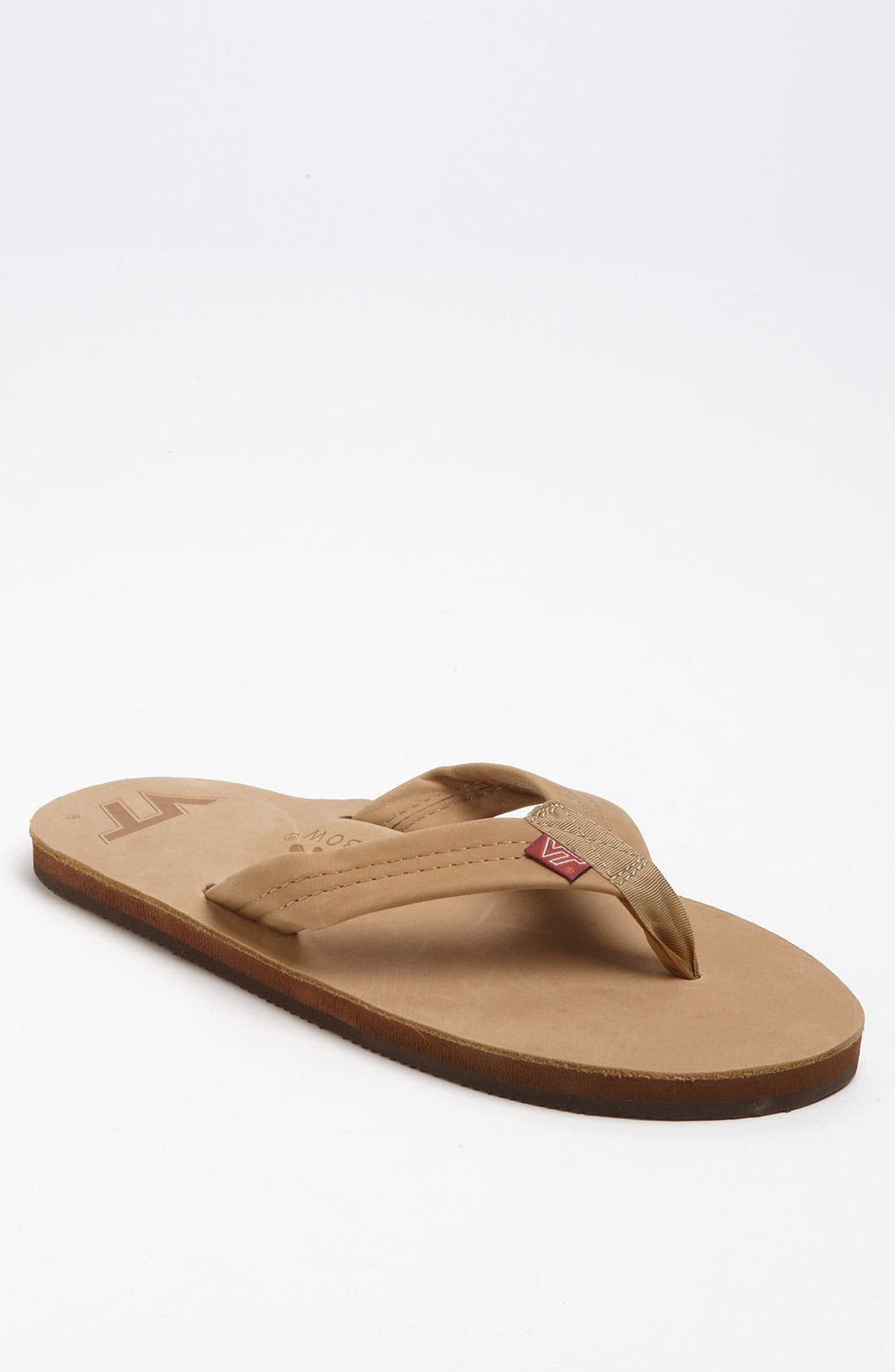 Main Image - Rainbow 'Collegiate' Leather Flip Flop (Men)