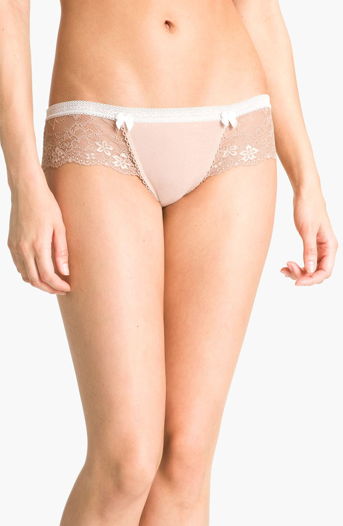 Alternate Image 1 Selected - Honeydew Intimates Lace & Mesh Hipster Panties