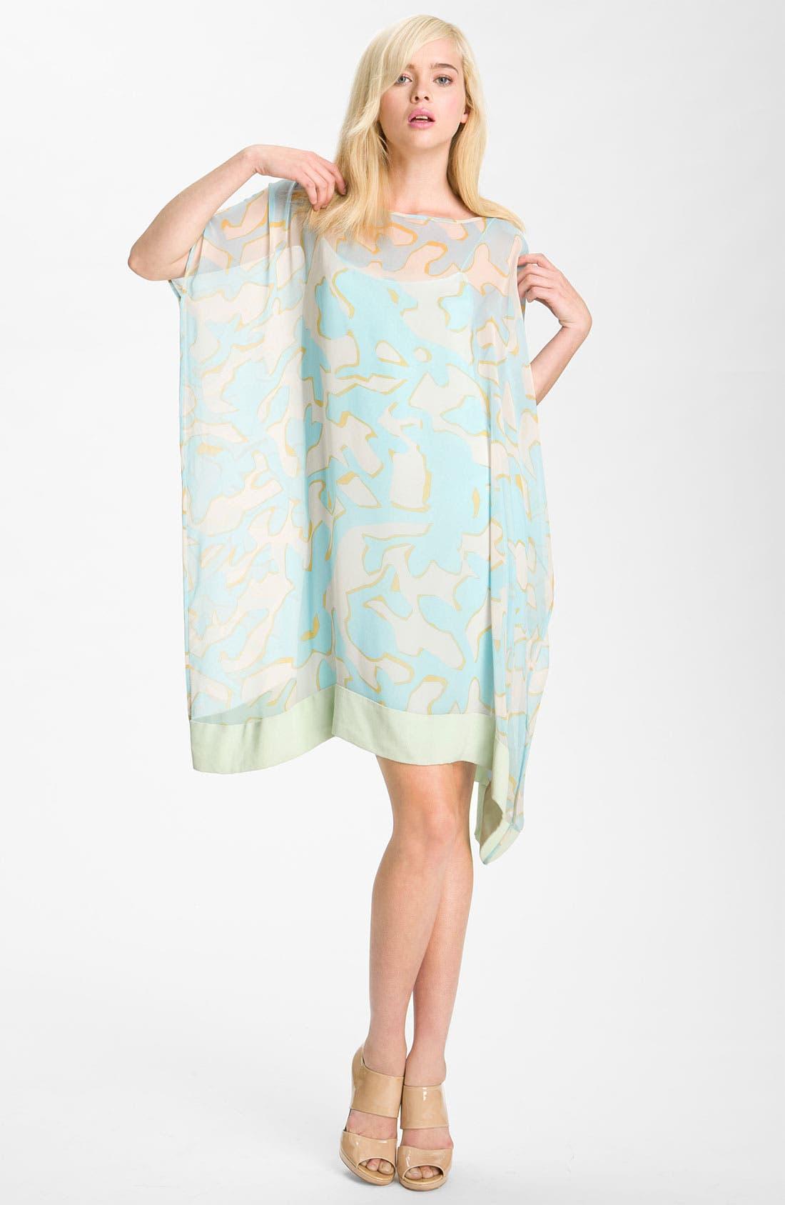 Alternate Image 1 Selected - Diane von Furstenberg 'New Hanky' Print Silk Dress