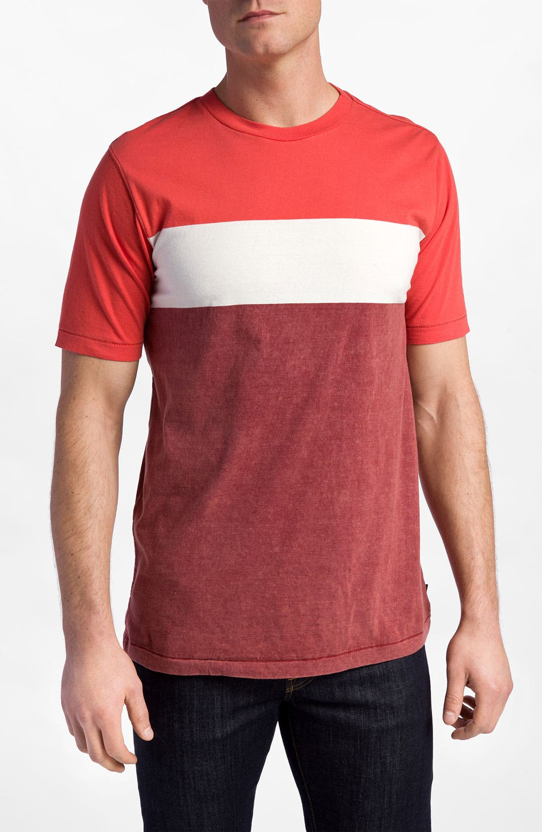 Alternate Image 1 Selected - Quiksilver 'Friday' Colorblock Crewneck T-Shirt