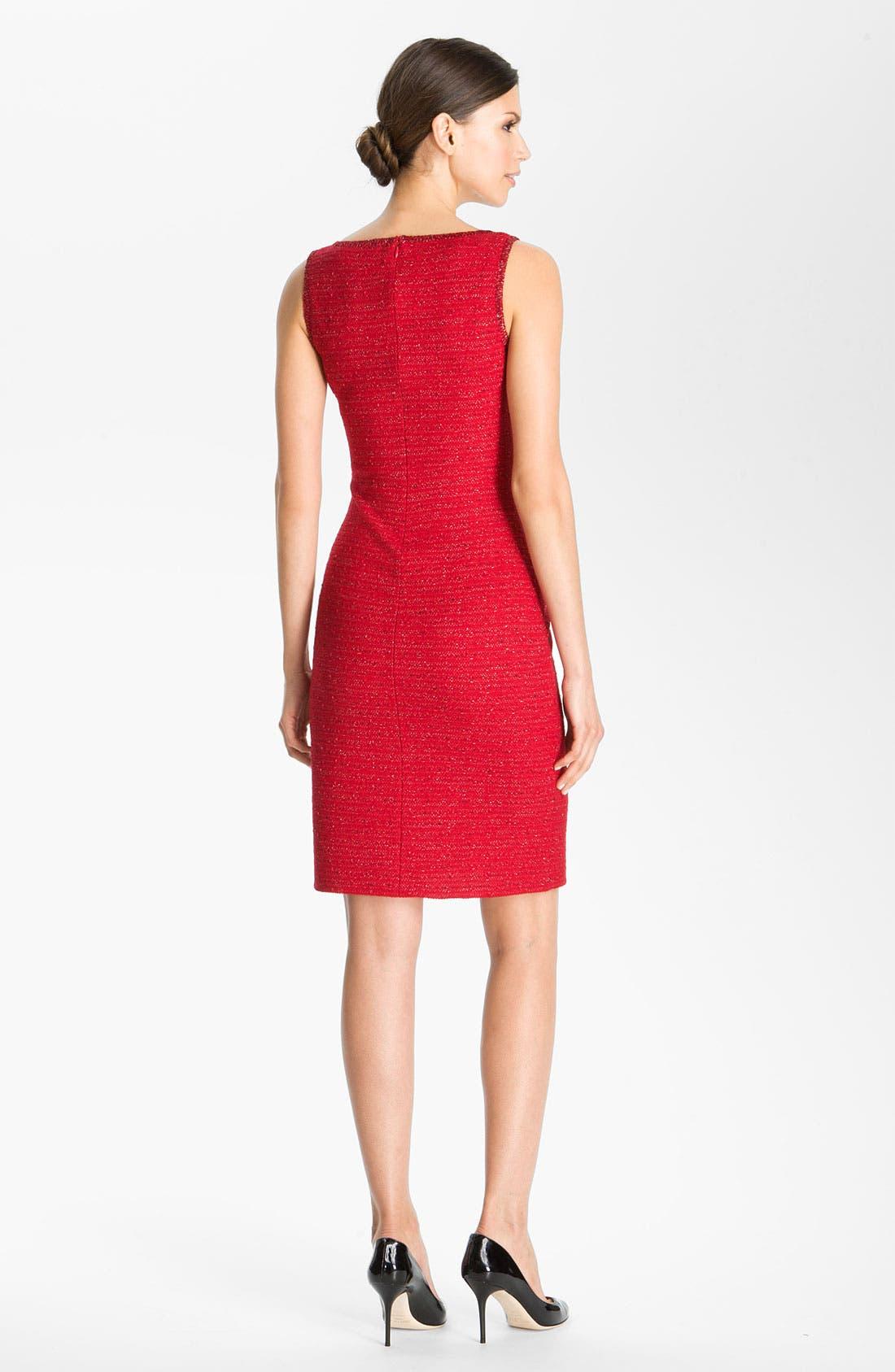 Alternate Image 2  - St. John Collection Ruby Tweed Sheath Dress