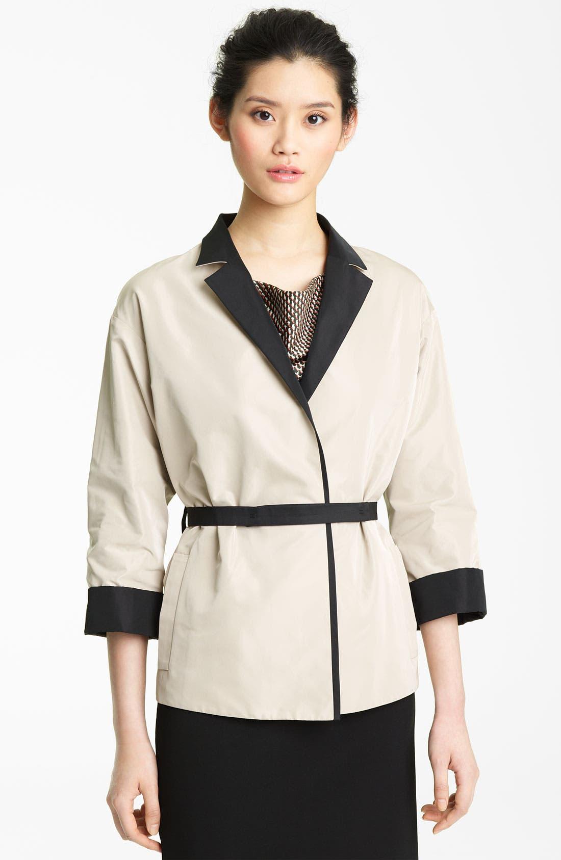 Alternate Image 1 Selected - Lida Baday Belted Reversible Twill Jacket
