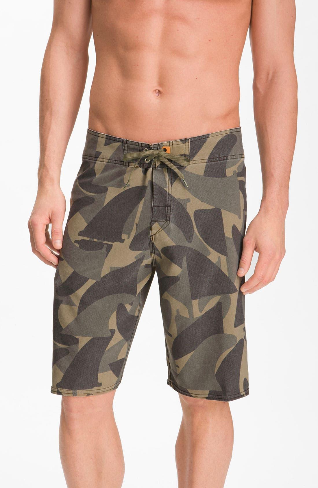 Main Image - Quiksilver Waterman 'Camofin' Board Shorts