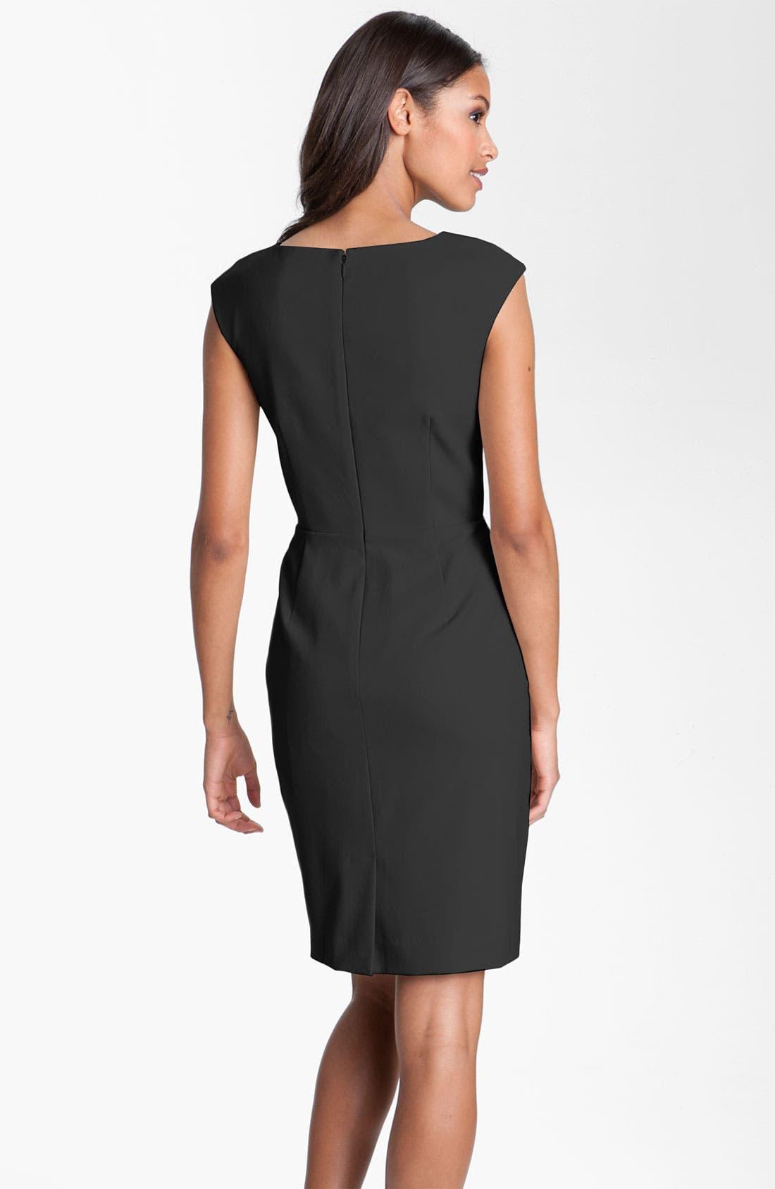 Alternate Image 2  - Calvin Klein Side Ruffle Woven Sheath Dress