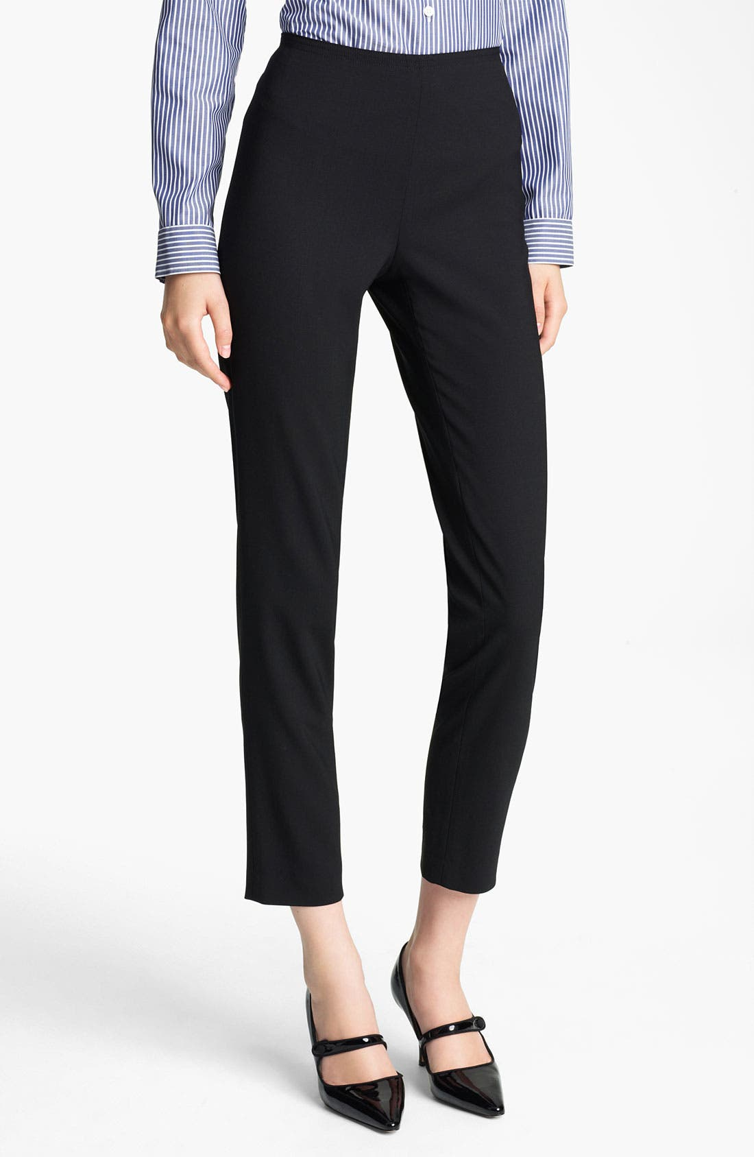 Main Image - Jil Sander Navy Stretch Wool Ankle Pants