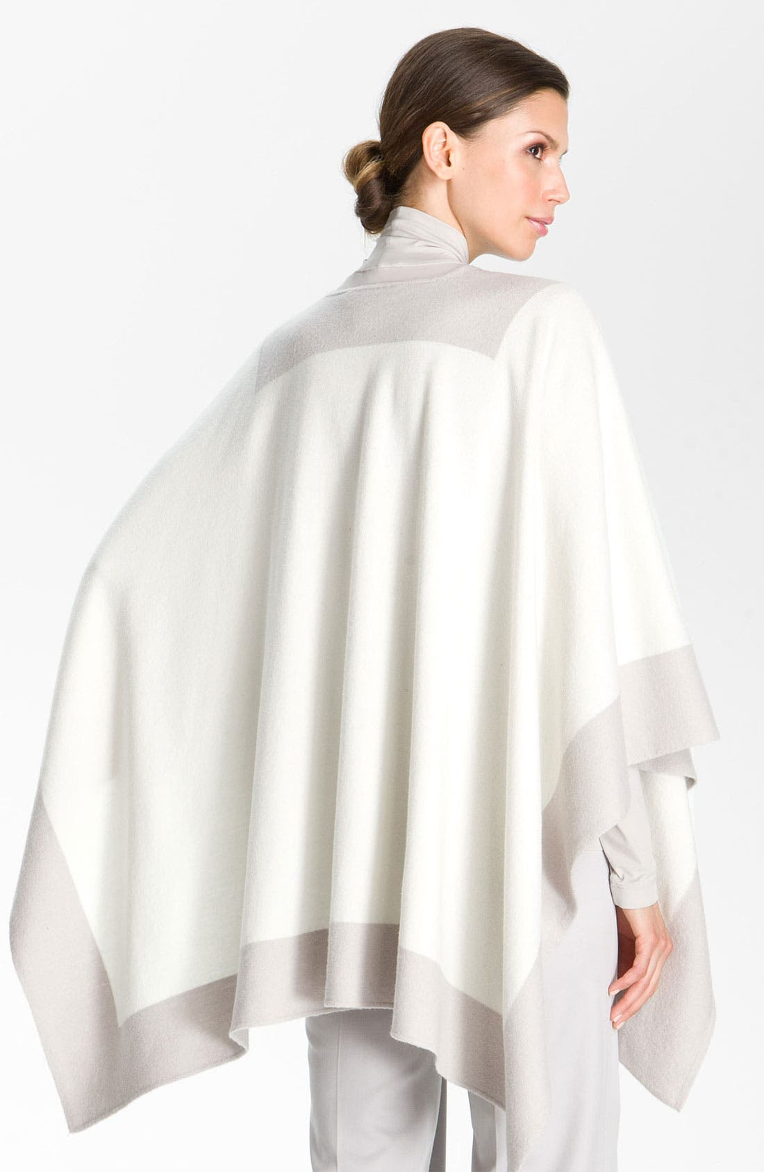 Alternate Image 3  - St. John Collection Colorblock Felted Wool Wrap