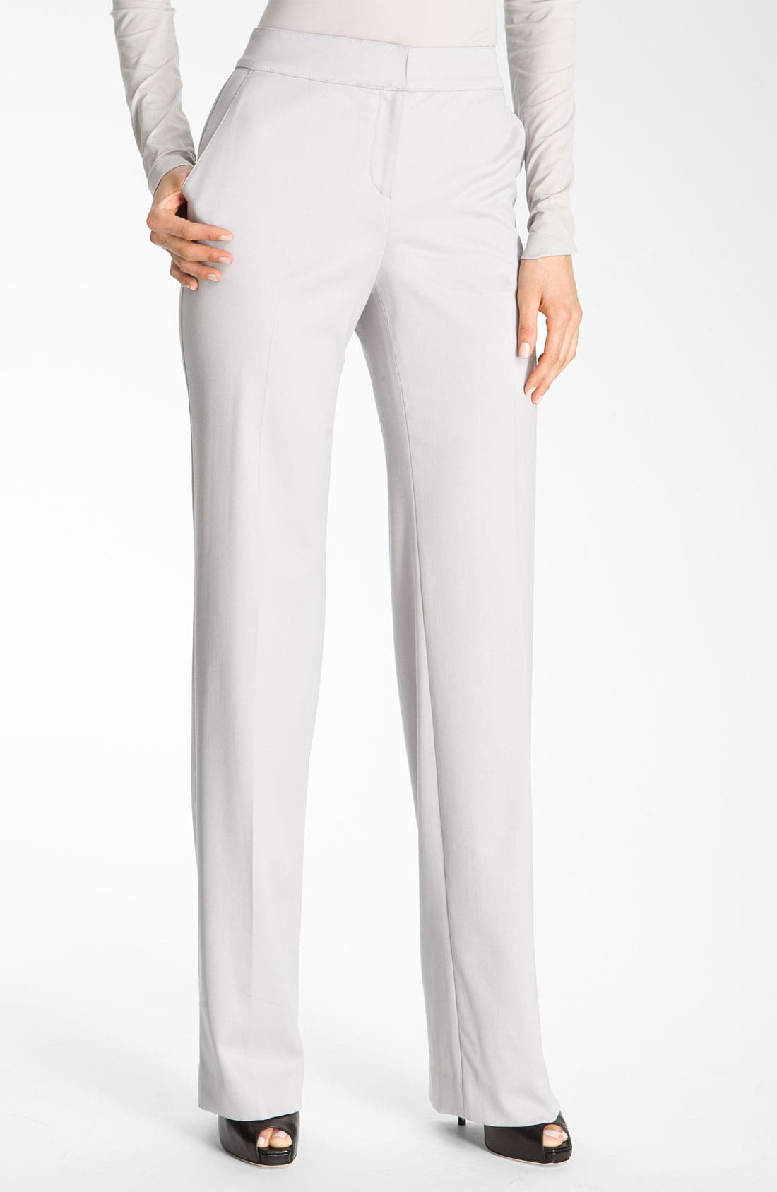 Alternate Image 2  - St. John Collection Flare Leg Stretch Venetian Wool Pants