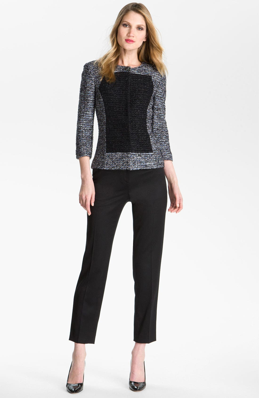 Main Image - St. John Collection 'Emma' Venetian Wool Crop Pants