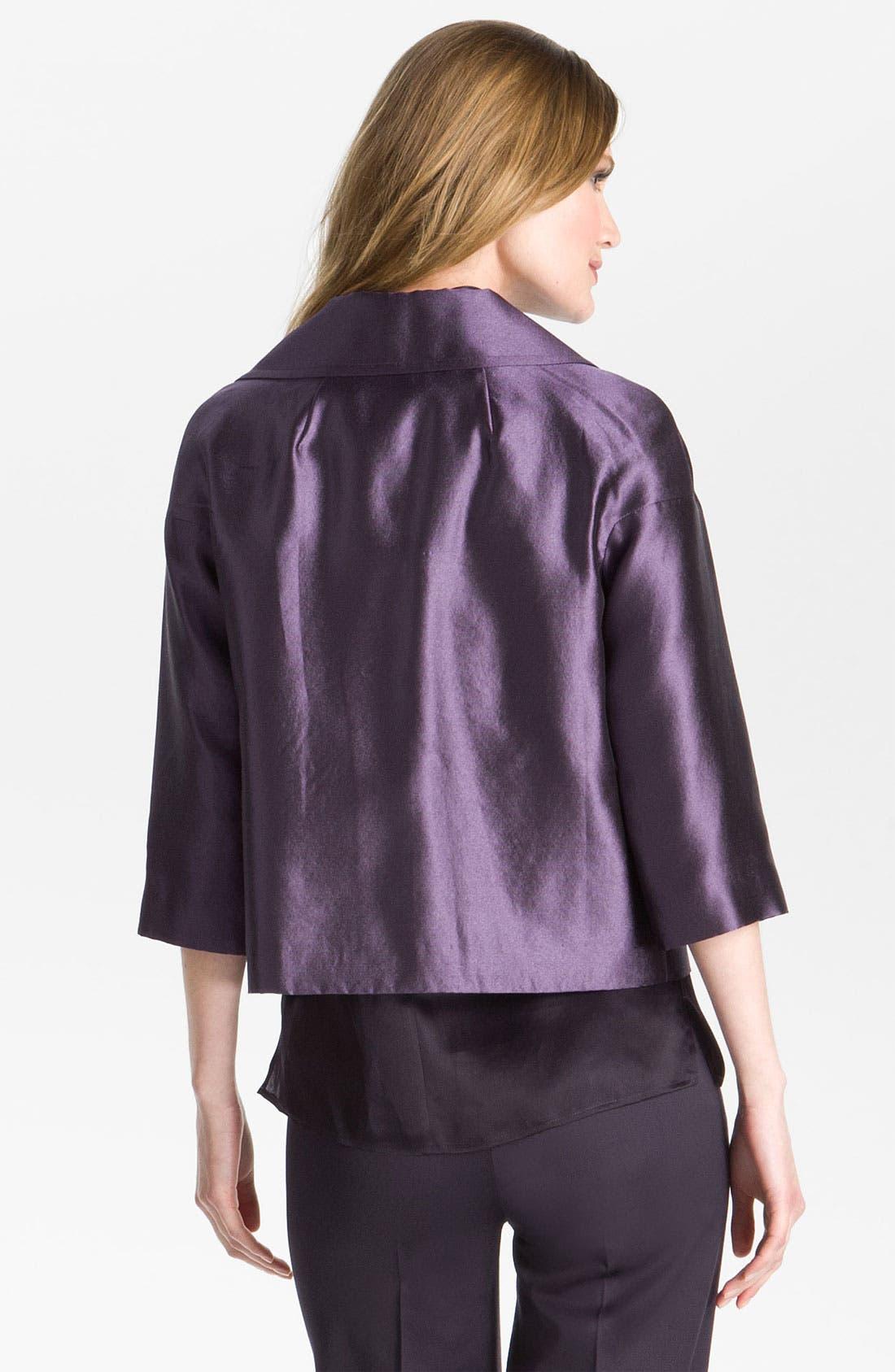 Alternate Image 3  - St. John Collection Wool & Silk Taffeta Boxy Jacket