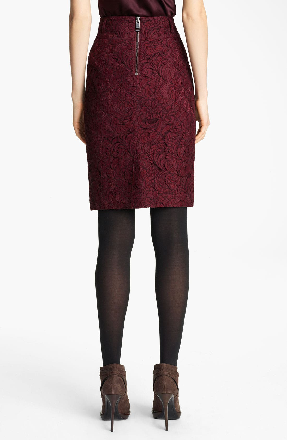 Alternate Image 2  - Burberry London Lace Skirt
