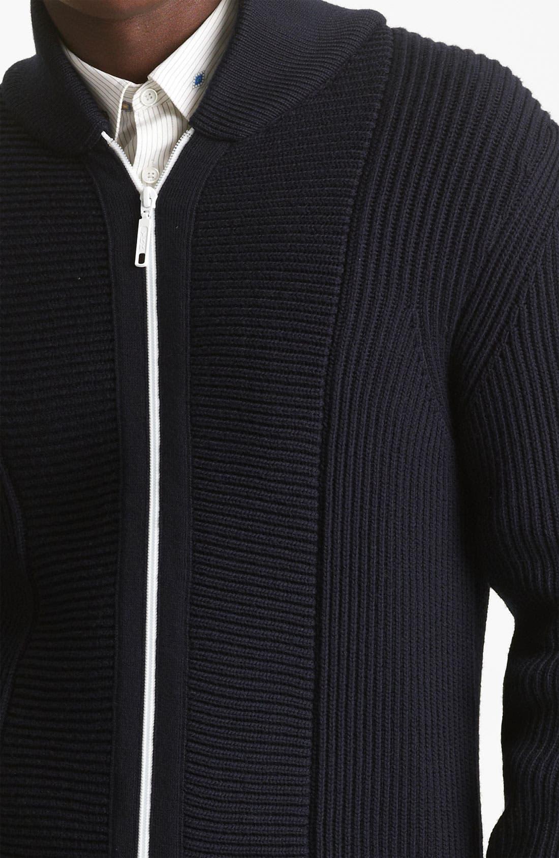 Alternate Image 3  - KENZO Rib Zip Sweater