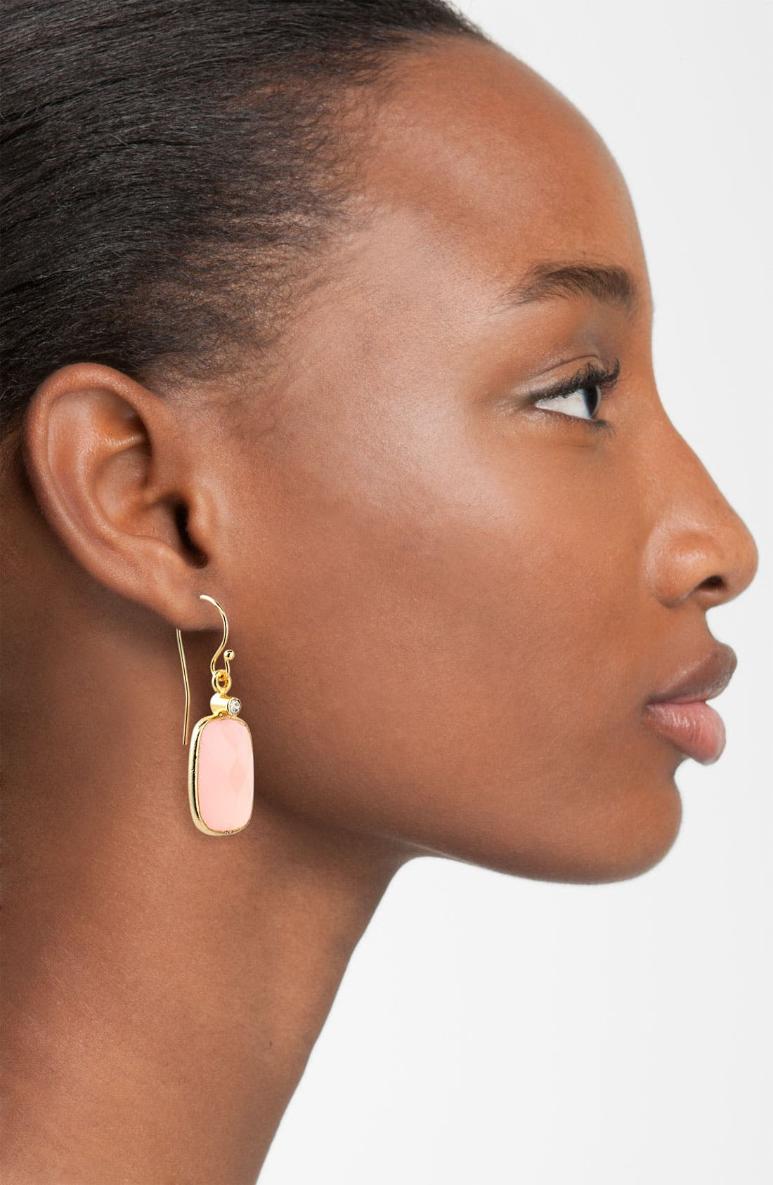 Alternate Image 2  - NuNu Designs Rectangular Drop Earrings