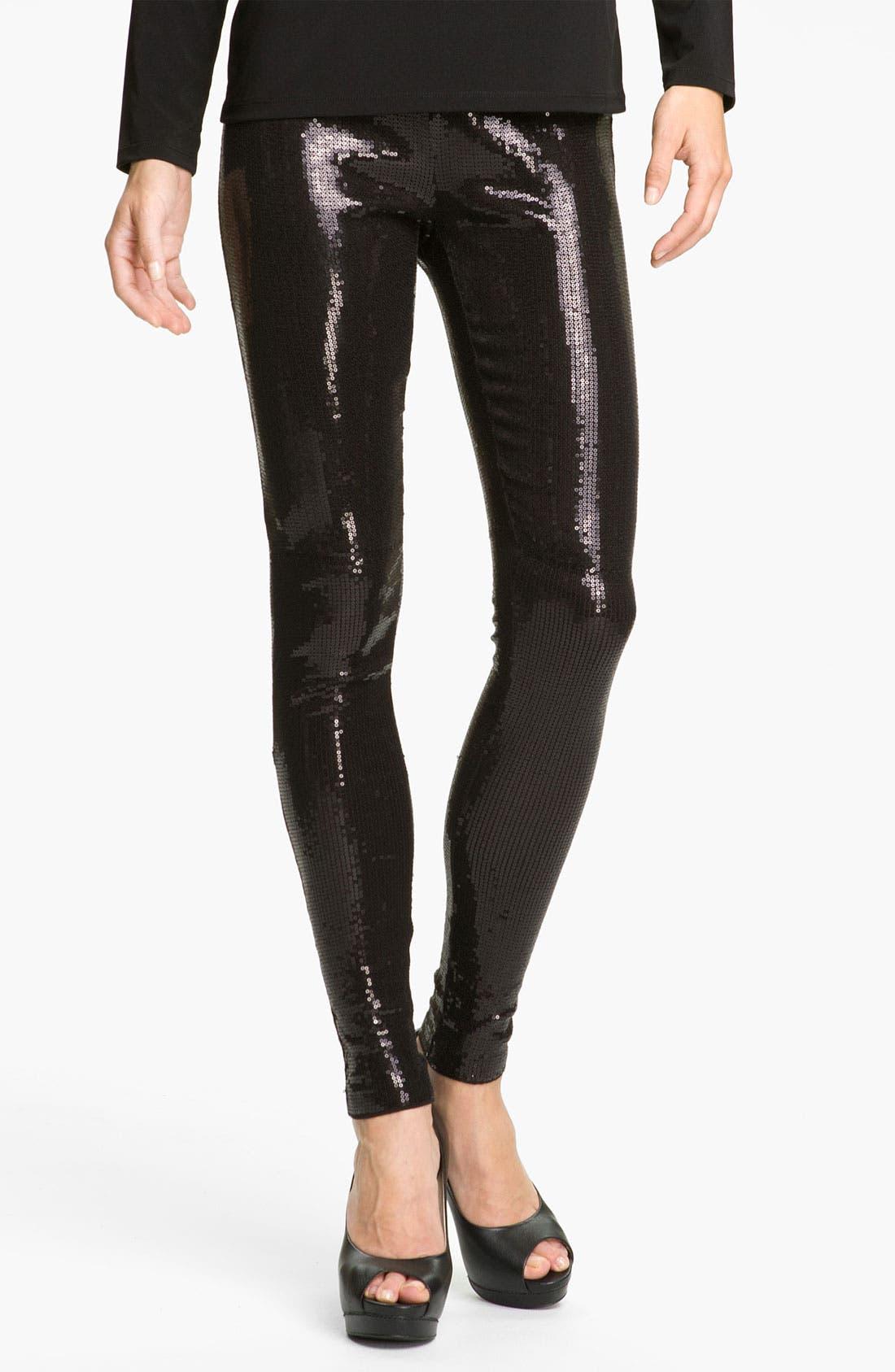 Alternate Image 1 Selected - MICHAEL Michael Kors Sequin Leggings