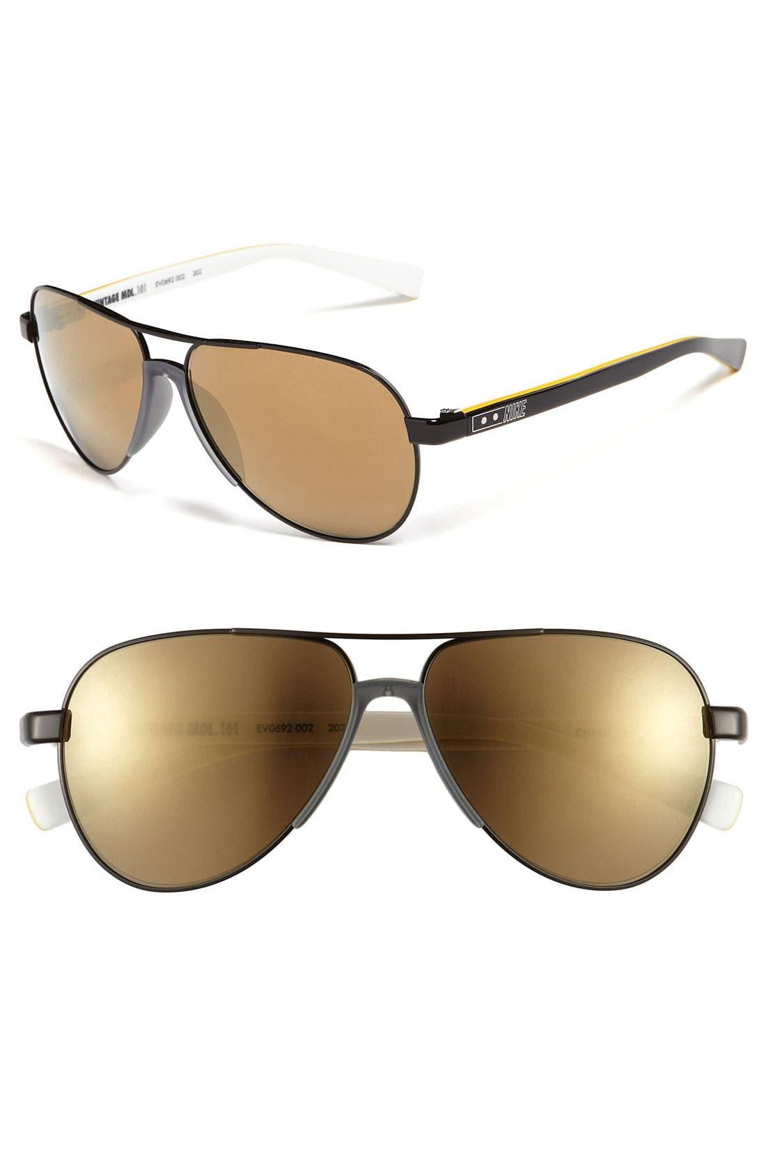 Main Image - Nike Aviator Sunglasses
