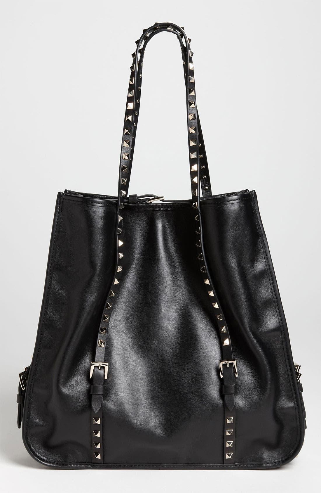 Main Image - Valentino 'Rockstud' Leather Shopper Tote