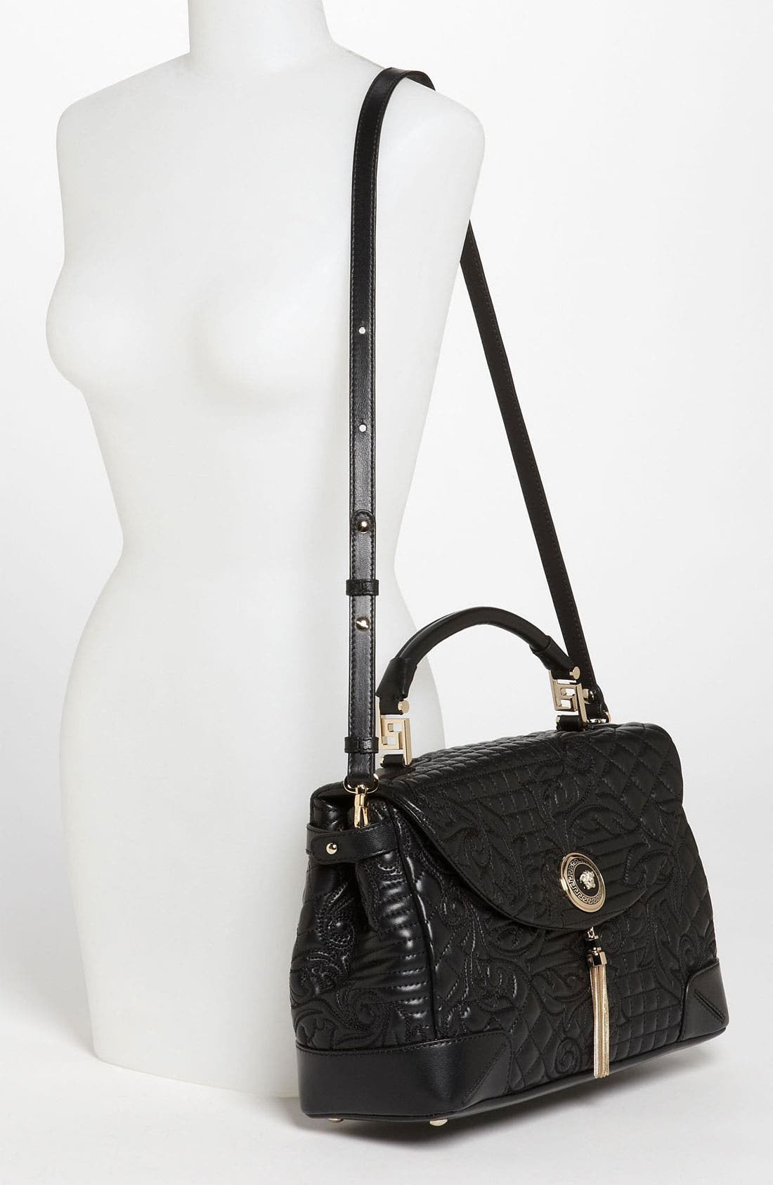 Alternate Image 2  - Versace 'Vanitas' Embroidered Nappa Lambskin Leather Satchel