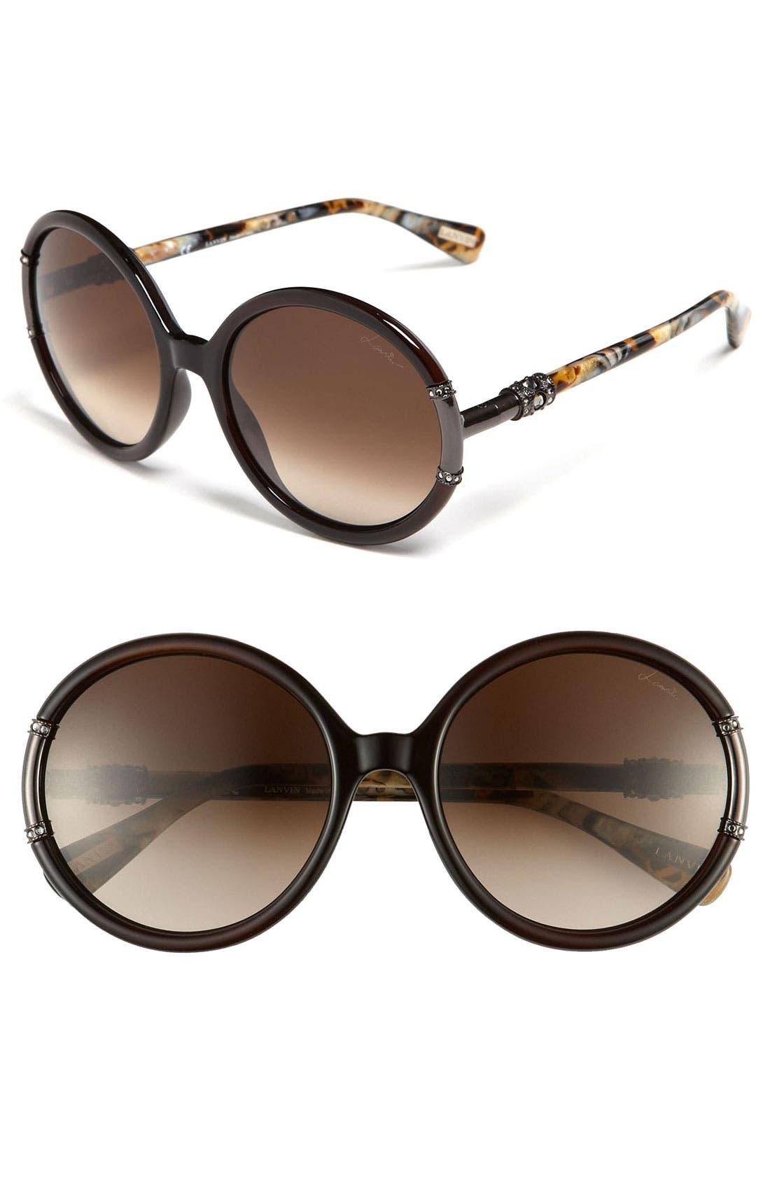 Main Image - Lanvin Round Swarovski Crystal Sunglasses
