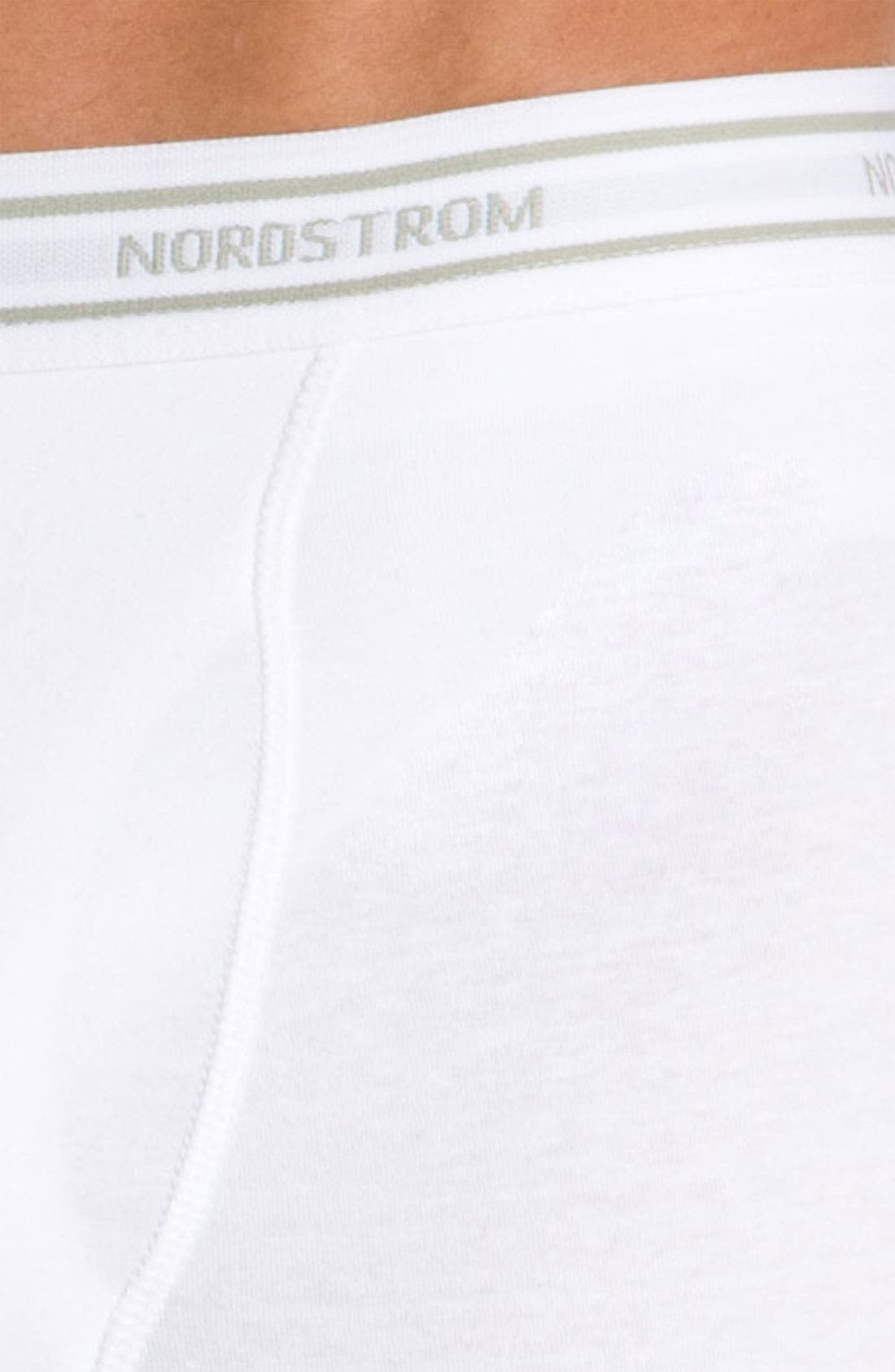 Alternate Image 2  - Nordstrom Stretch Cotton Boxer Briefs (3-Pack)