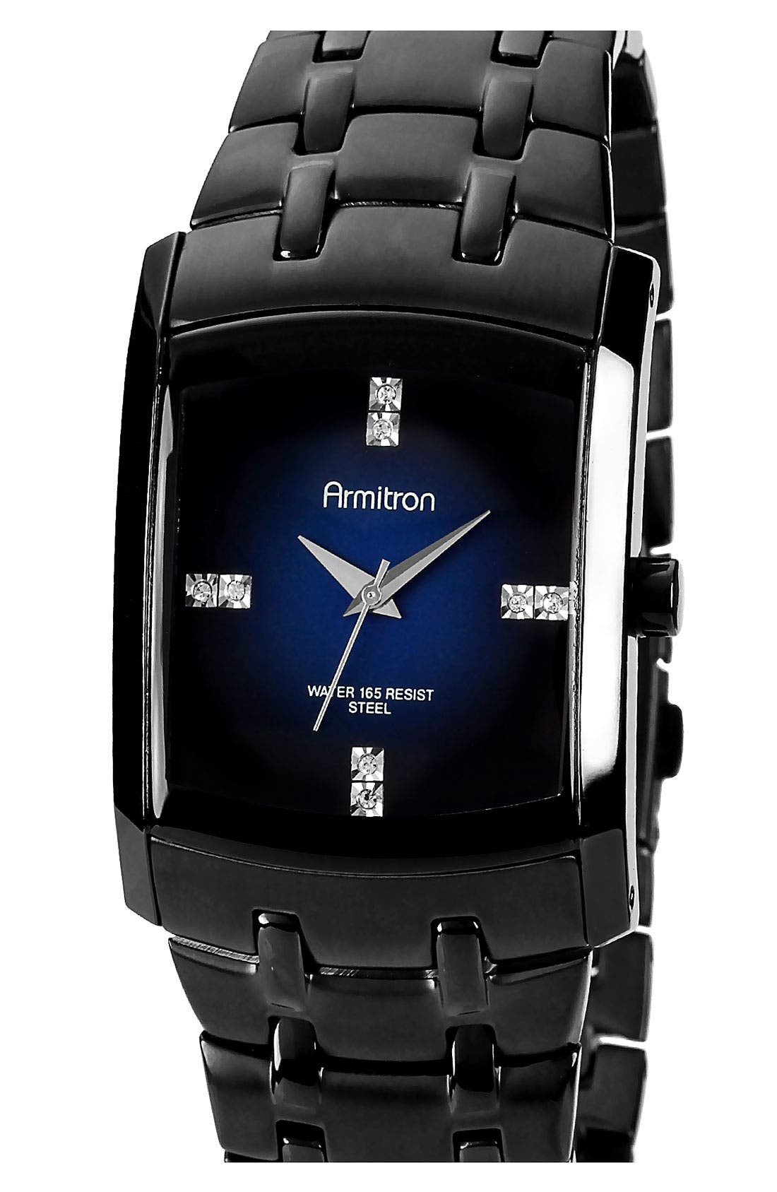 Main Image - Armitron Square Dial Bracelet Watch, 33mm x 35mm