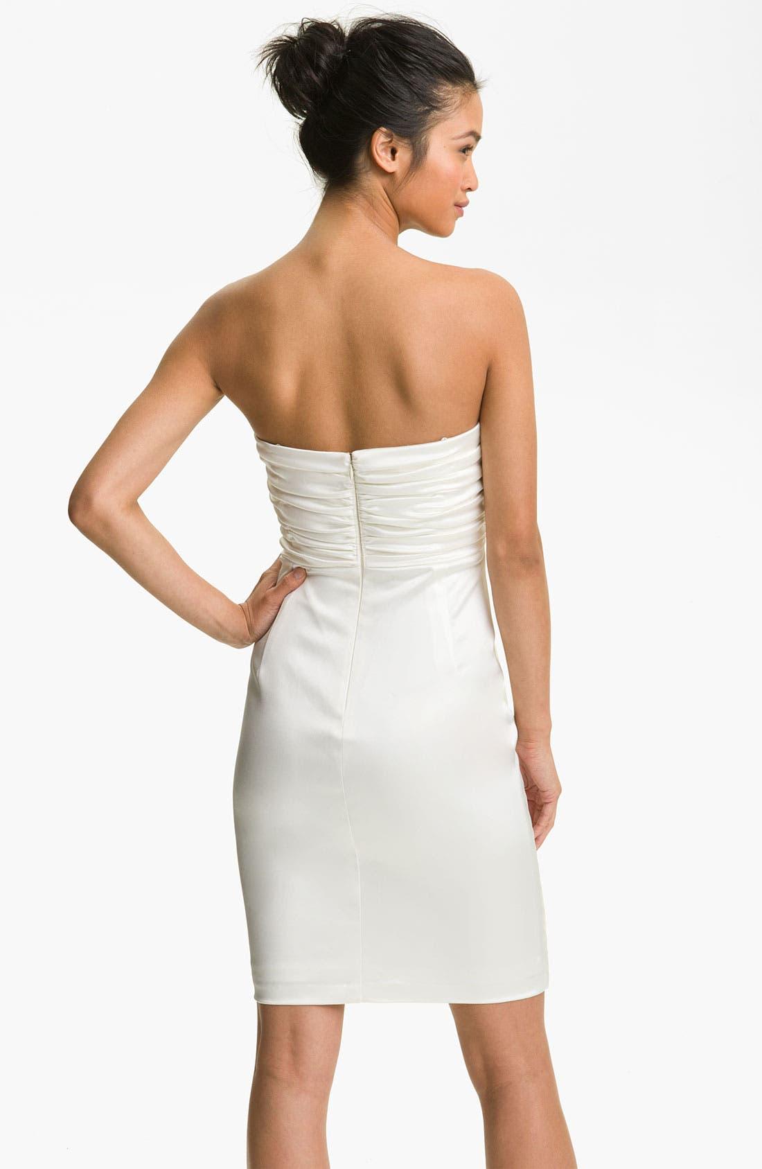 Alternate Image 2  - Maggy London Strapless Sheath Dress