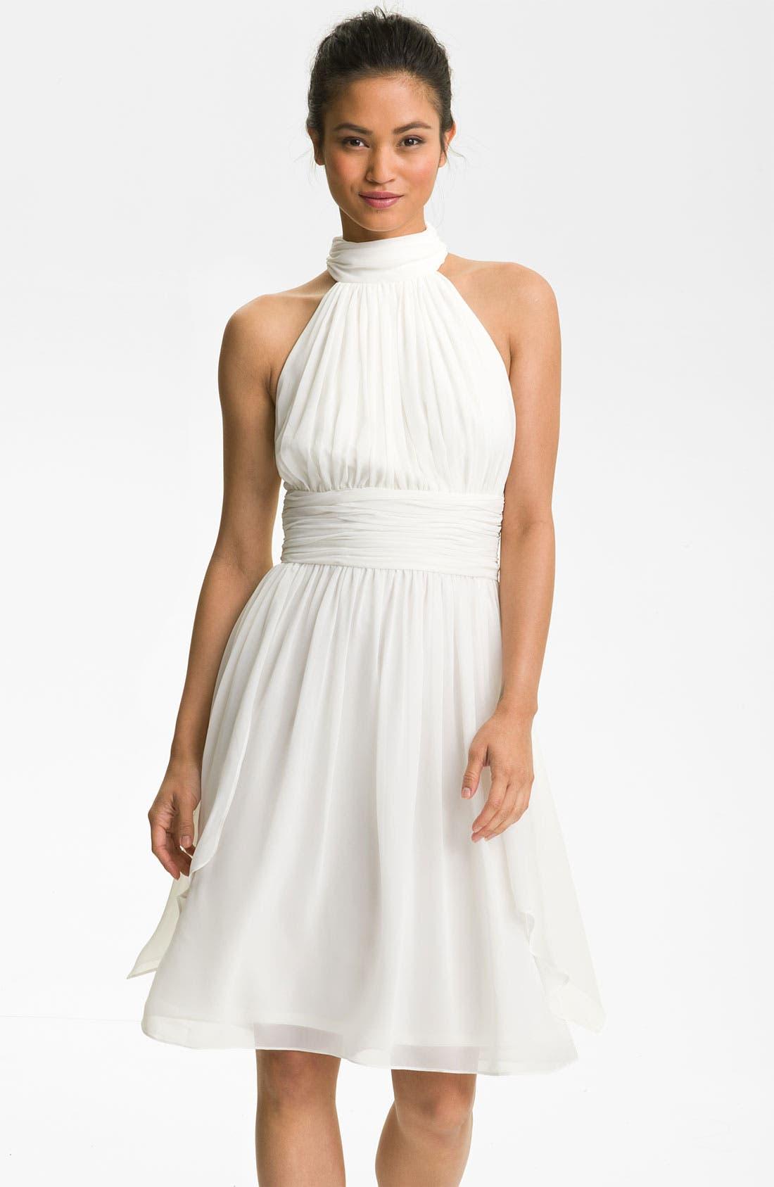 Main Image - Maggy London Ruched Chiffon Halter Dress