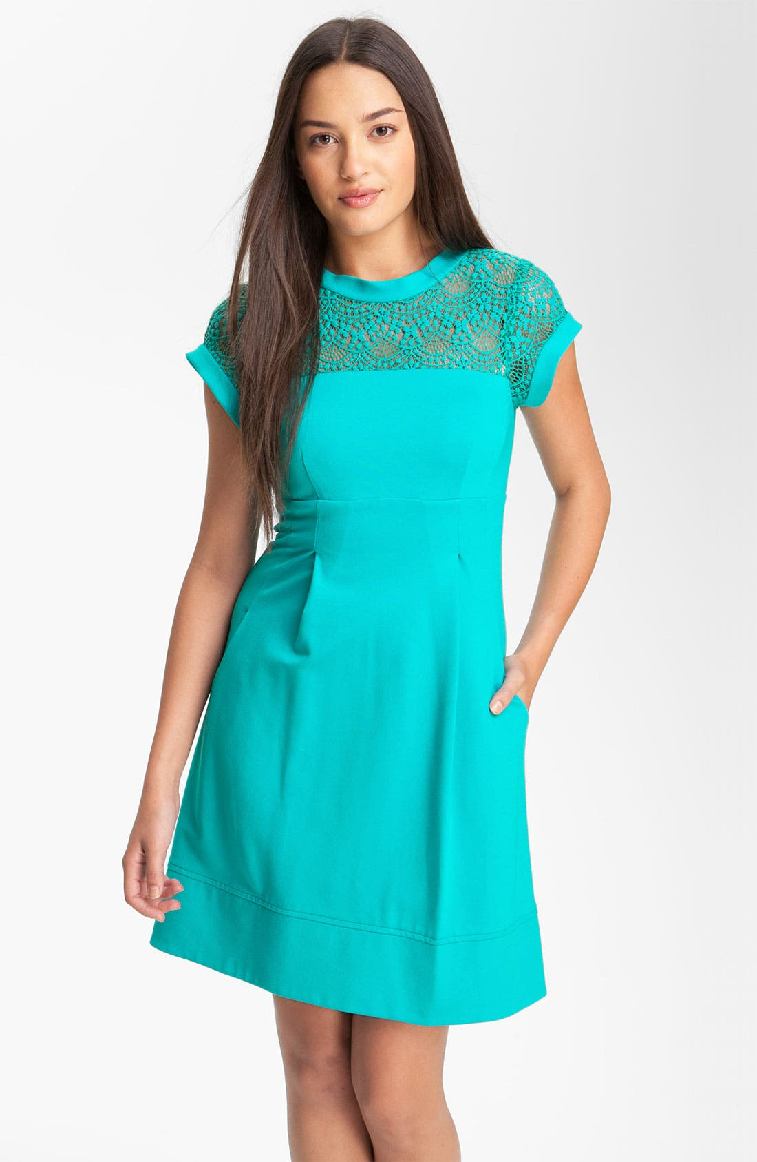 Main Image - Nanette Lepore 'Shadow' Pleated Dress