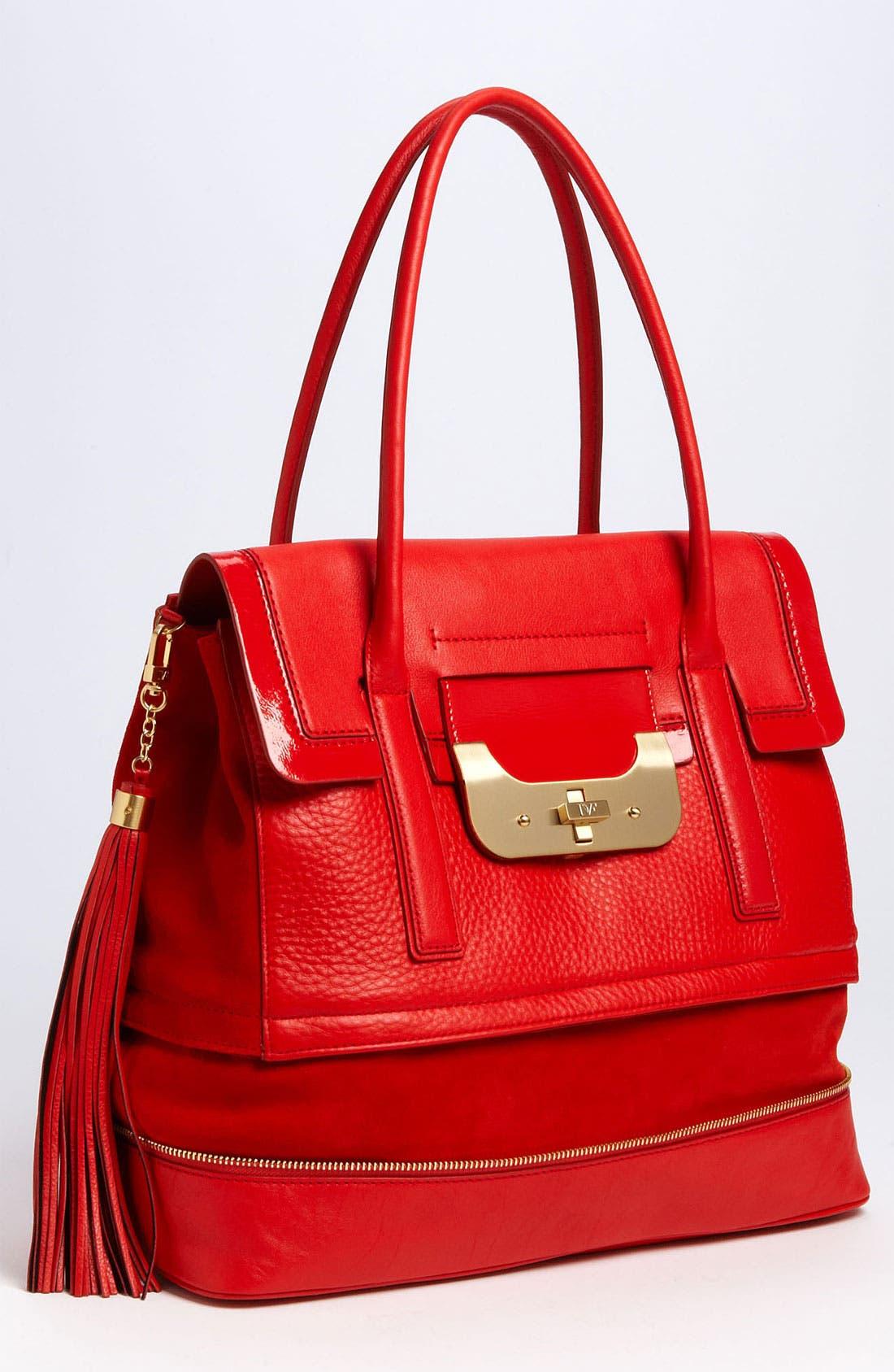 Alternate Image 1 Selected - Diane von Furstenberg 'Harper Laurel' Leather Shoulder Bag