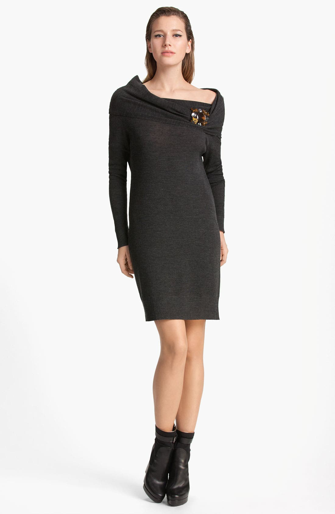 Alternate Image 1 Selected - Lanvin Cowl Neck Wool Dress
