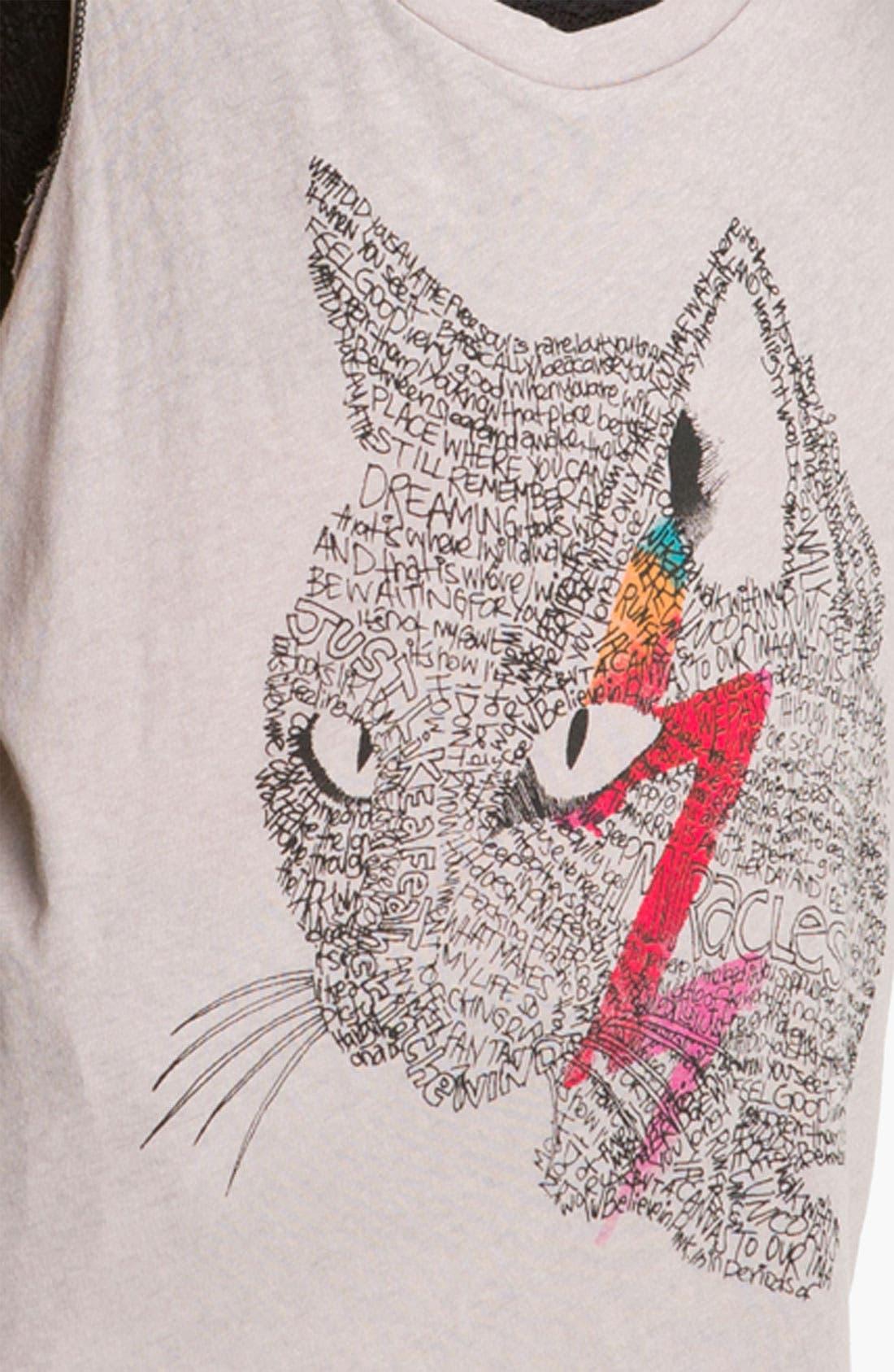 Alternate Image 3  - Free People 'Cat' Graphic Tank