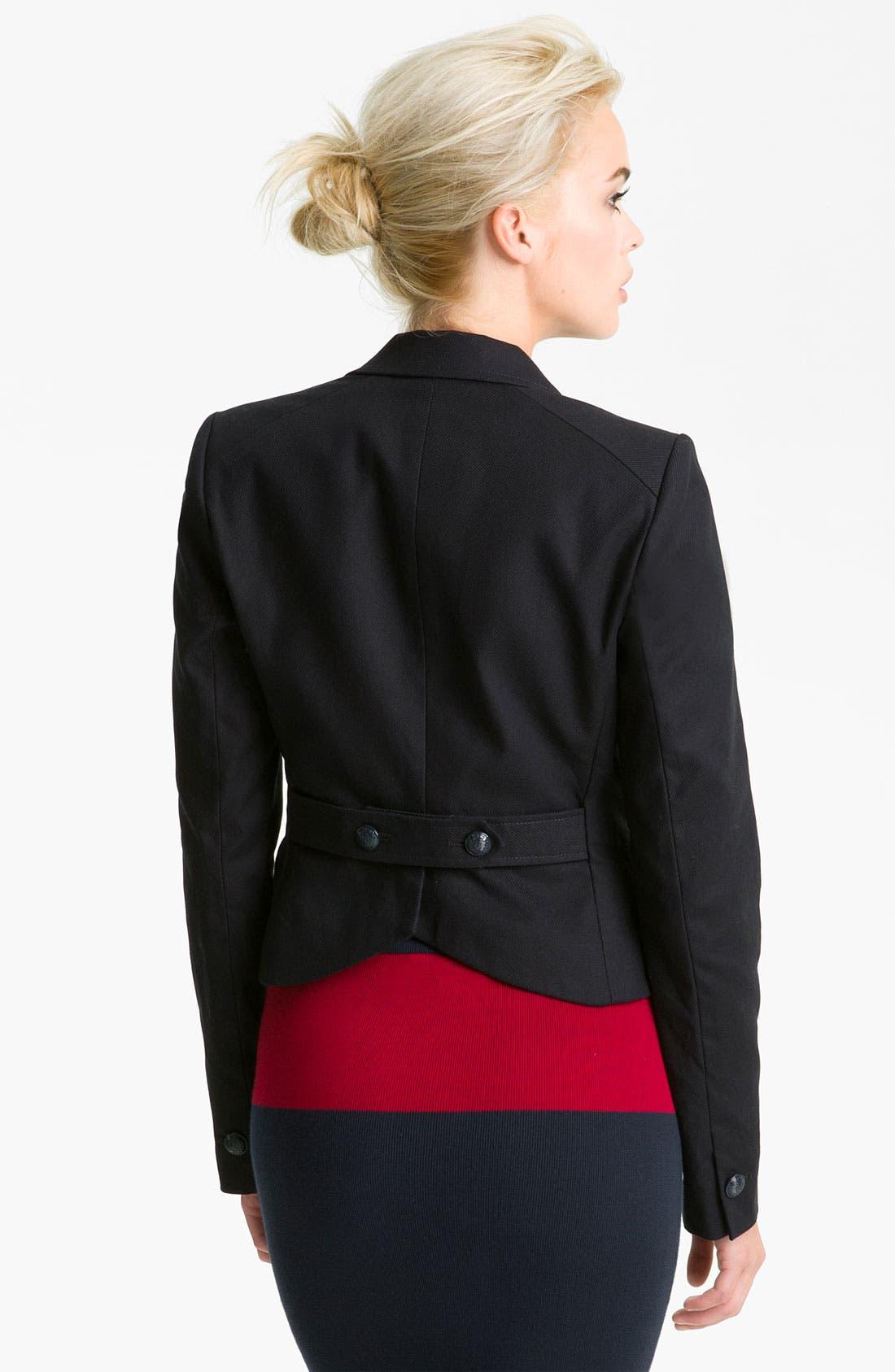 Alternate Image 2  - Juicy Couture Crop Riding Jacket