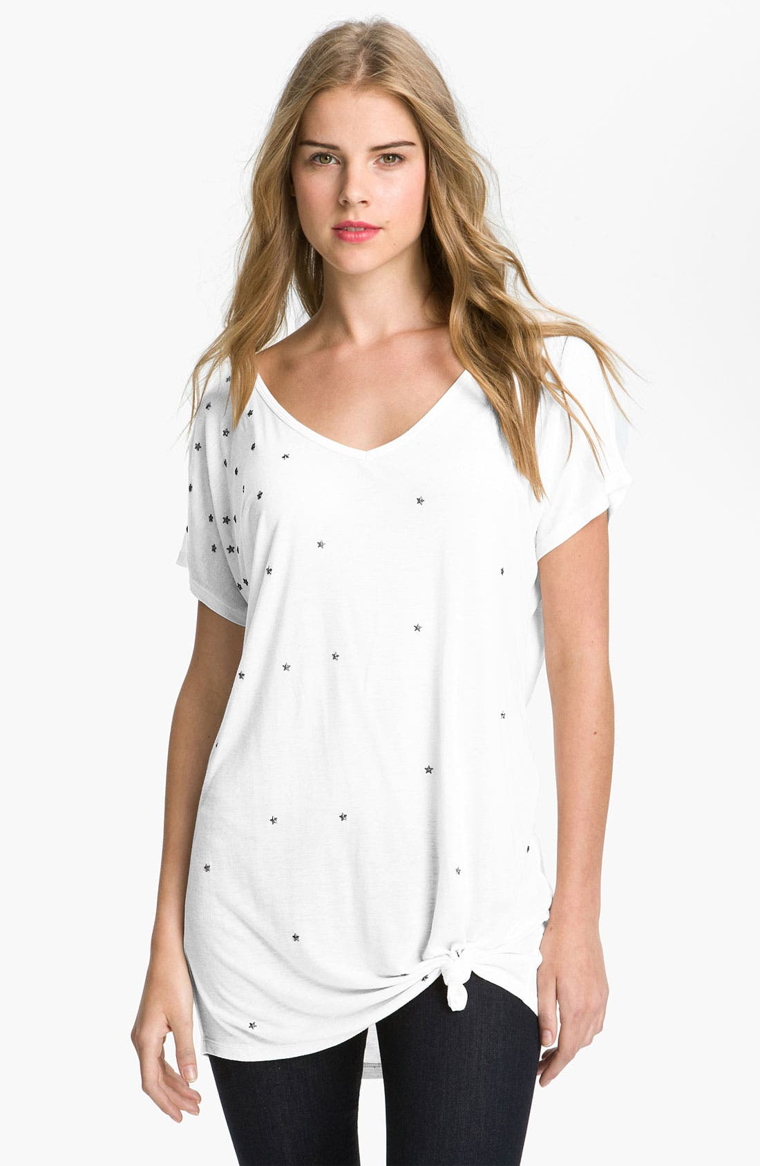 Alternate Image 1 Selected - Max & Mia Studded Knot Tee