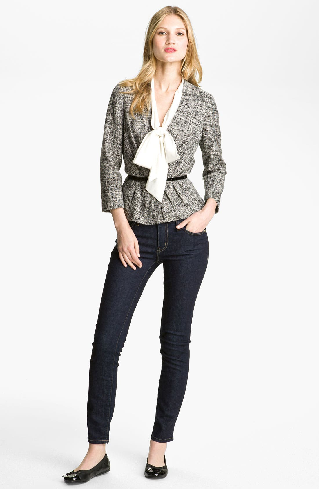 Alternate Image 4  - kate spade new york 'broome street' skinny jeans (Indigo Wash) (Online Only)