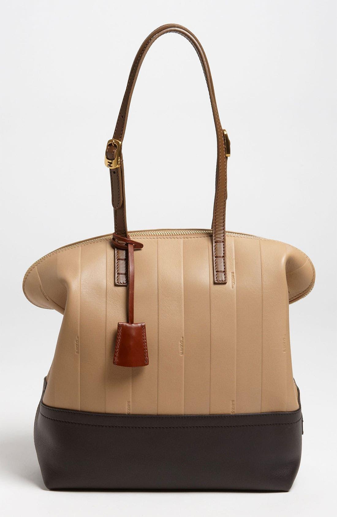 Main Image - Fendi 'Paris Pequin - 2-Way' Leather Shopper
