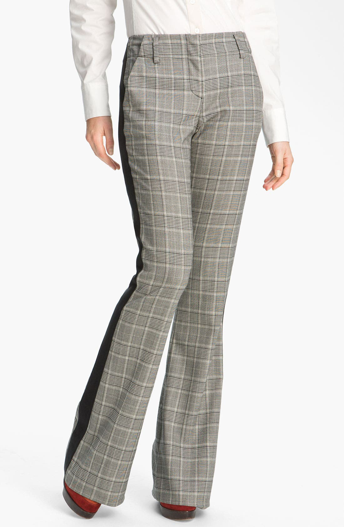 Alternate Image 1 Selected - Derek Lam 10 Crosby Tuxedo Stripe Bootcut Pants