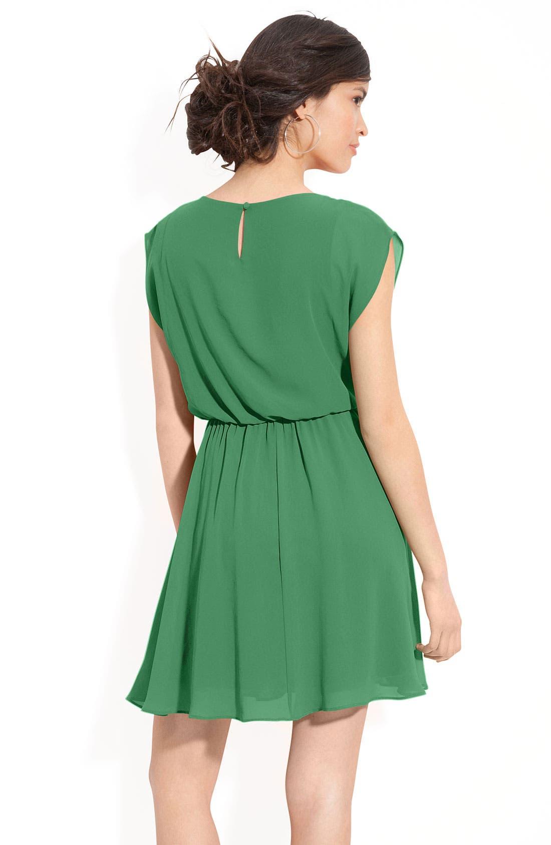 Alternate Image 2  - Lush 'Harper' Chiffon Dress (Juniors)
