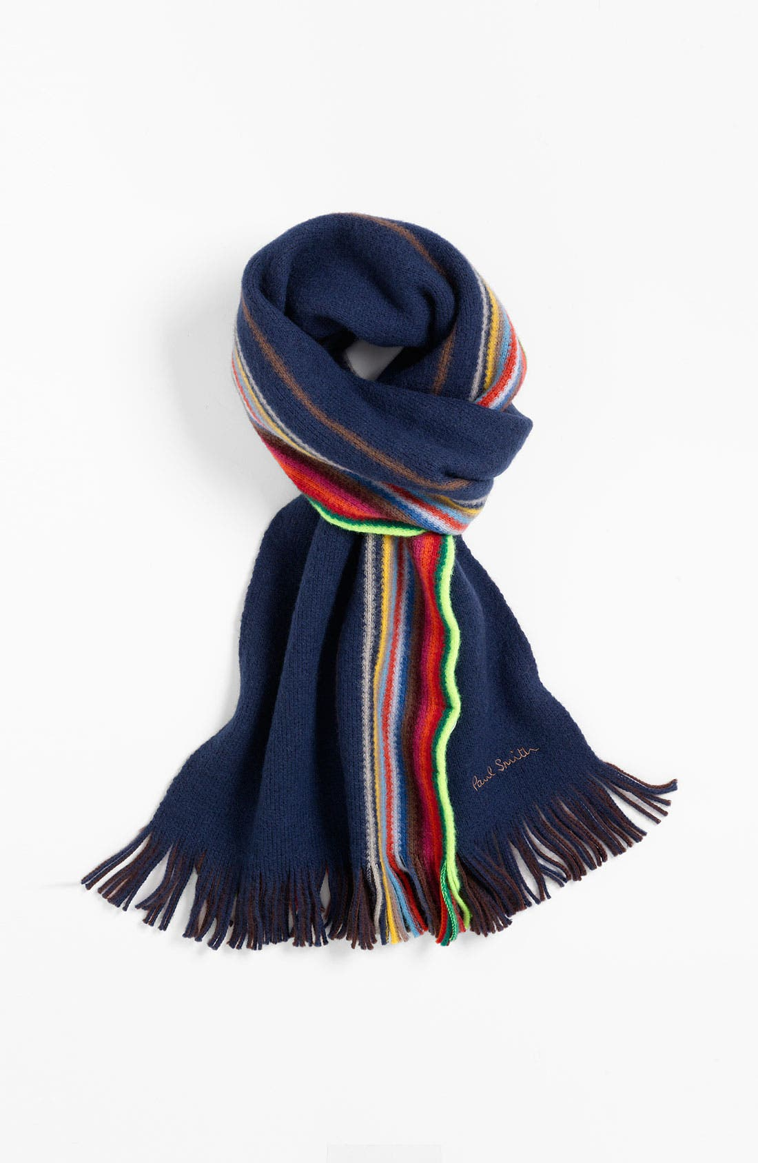 Alternate Image 1 Selected - Paul Smith Accessories Reversible Stripe Wool Scarf