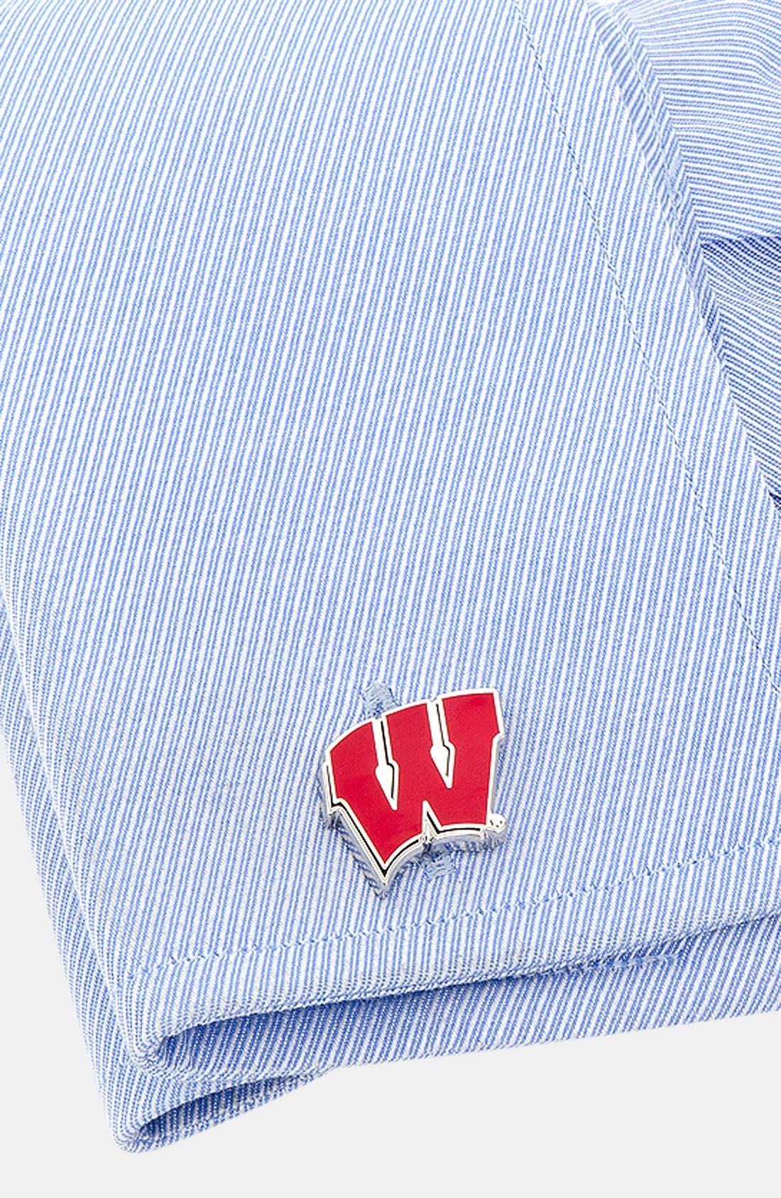 Alternate Image 2  - Cufflinks, Inc. 'University of Wisconsin Badgers' Cuff Links