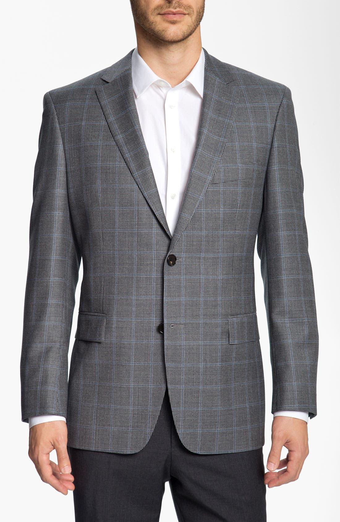 Main Image - BOSS Black 'Pasini' Houndstooth Sportcoat